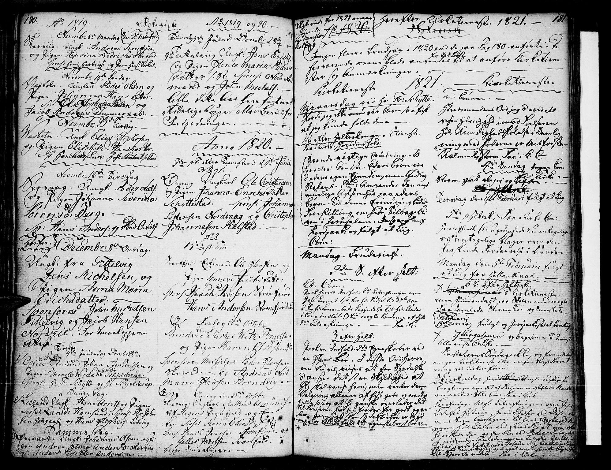 SAT, Ministerialprotokoller, klokkerbøker og fødselsregistre - Nordland, 859/L0841: Ministerialbok nr. 859A01, 1766-1821, s. 180-181