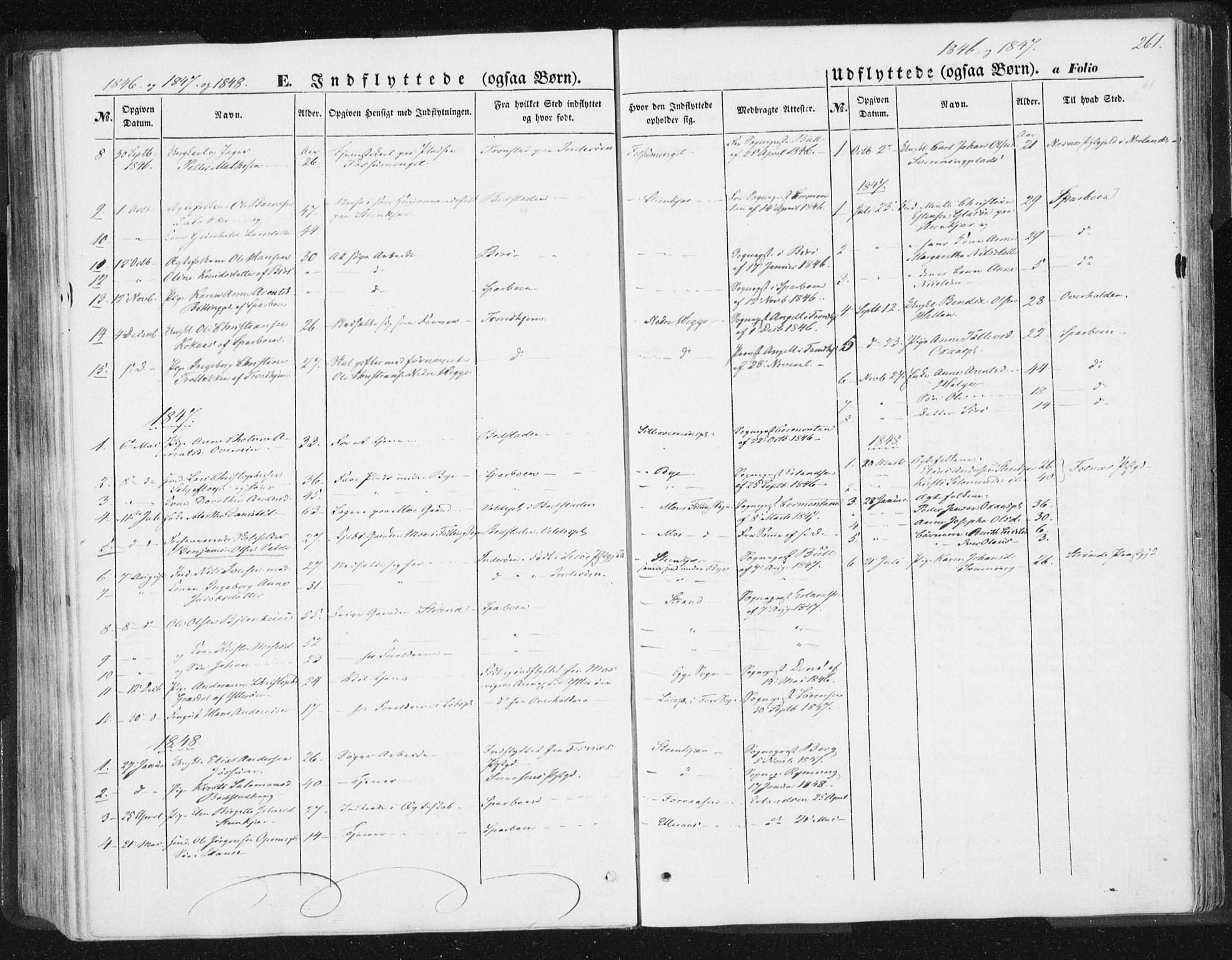 SAT, Ministerialprotokoller, klokkerbøker og fødselsregistre - Nord-Trøndelag, 746/L0446: Ministerialbok nr. 746A05, 1846-1859, s. 261