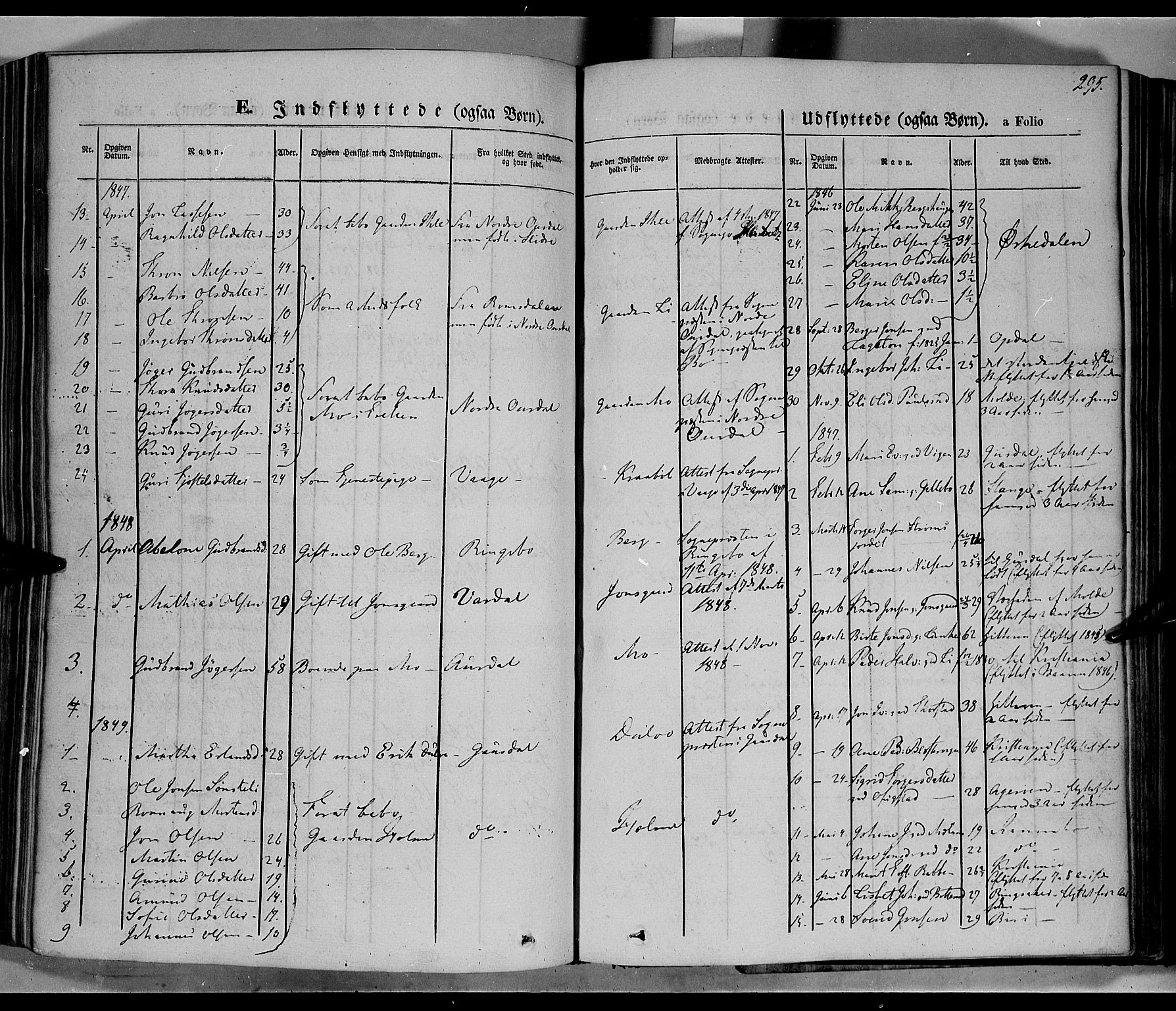 SAH, Øyer prestekontor, Ministerialbok nr. 5, 1842-1857, s. 295