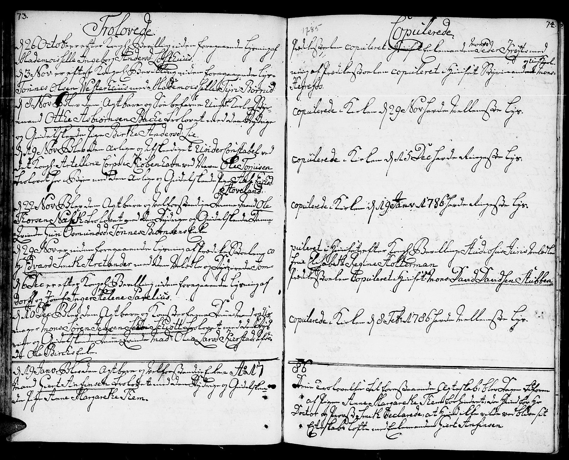 SAK, Kristiansand domprosti, F/Fa/L0005: Ministerialbok nr. A 5, 1776-1818, s. 73-74