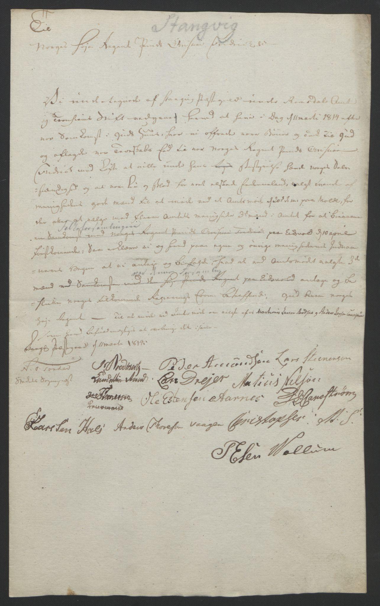 RA, Statsrådssekretariatet, D/Db/L0008: Fullmakter for Eidsvollsrepresentantene i 1814. , 1814, s. 397