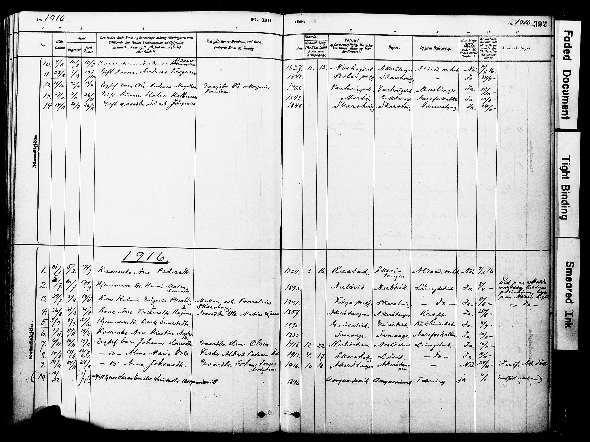 SAT, Ministerialprotokoller, klokkerbøker og fødselsregistre - Møre og Romsdal, 560/L0721: Ministerialbok nr. 560A05, 1878-1917, s. 392
