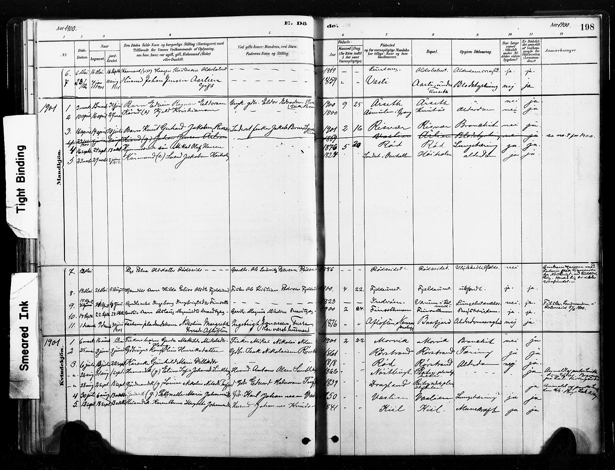SAT, Ministerialprotokoller, klokkerbøker og fødselsregistre - Nord-Trøndelag, 789/L0705: Ministerialbok nr. 789A01, 1878-1910, s. 198