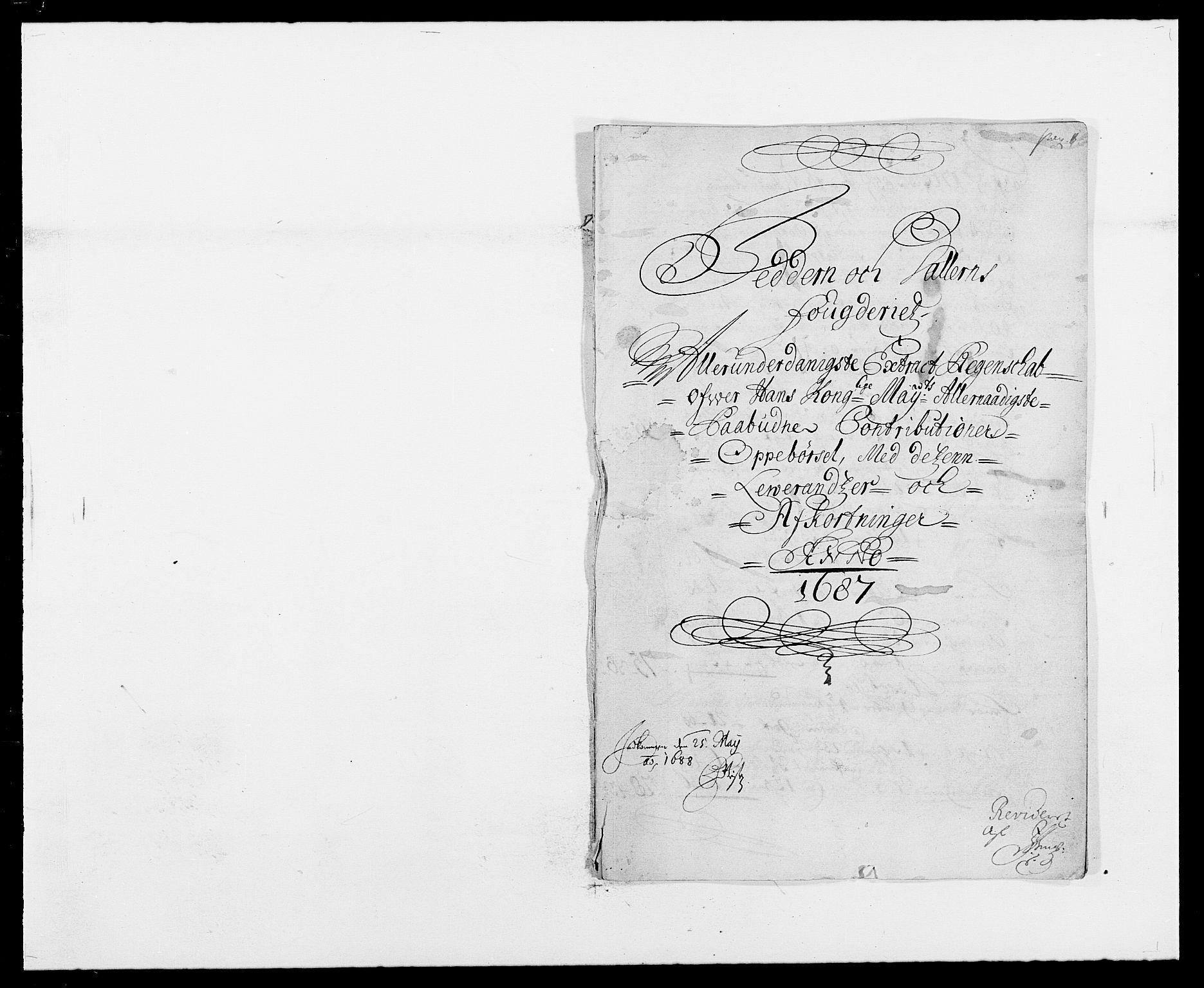 RA, Rentekammeret inntil 1814, Reviderte regnskaper, Fogderegnskap, R46/L2726: Fogderegnskap Jæren og Dalane, 1686-1689, s. 136