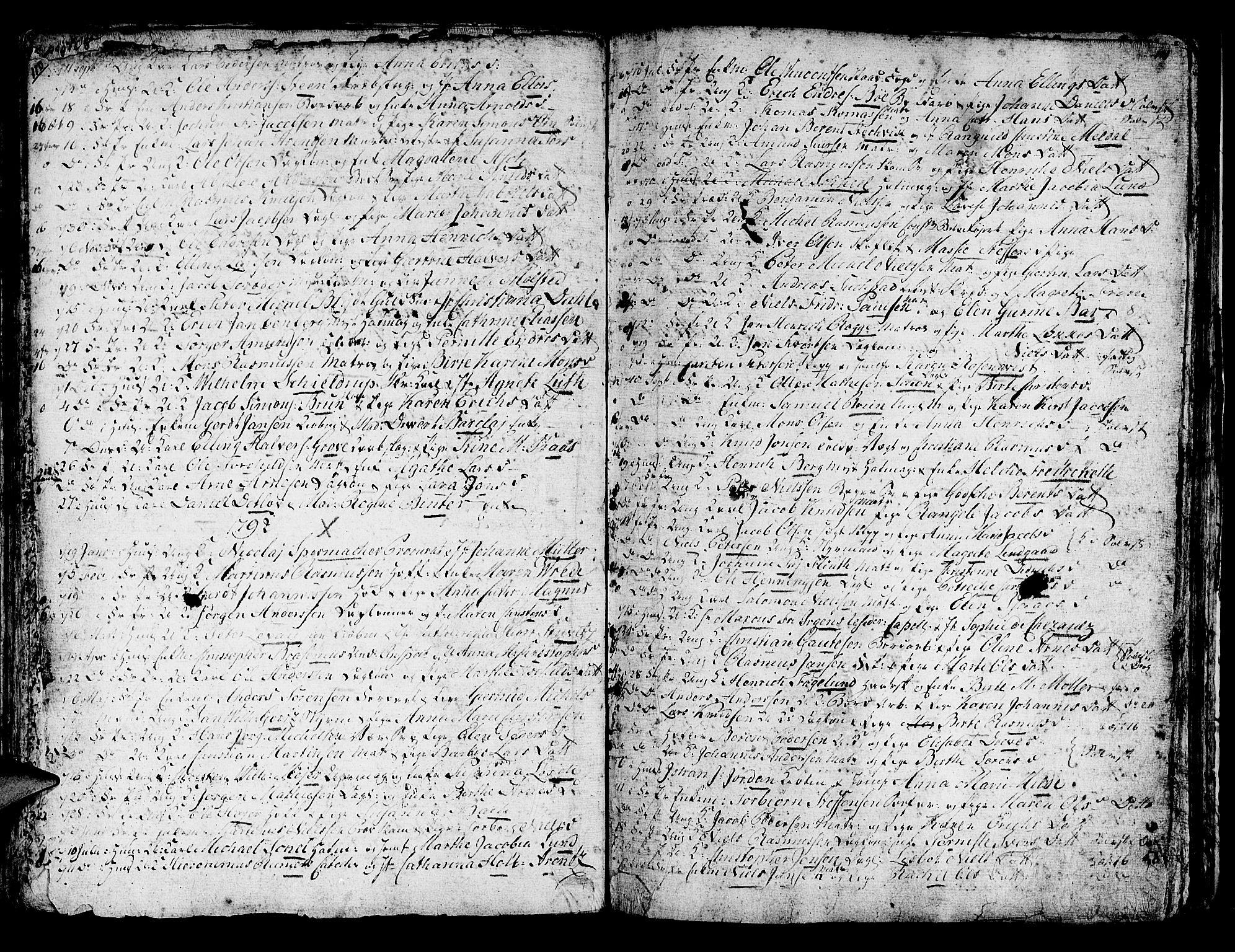 SAB, Domkirken Sokneprestembete, H/Haa/L0007: Ministerialbok nr. A 7, 1725-1826, s. 110-111