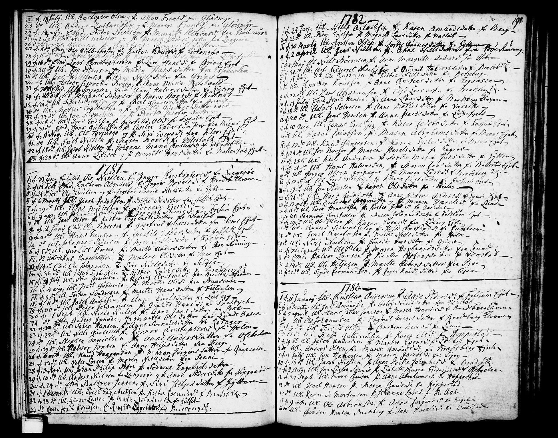 SAKO, Gjerpen kirkebøker, F/Fa/L0002: Ministerialbok nr. 2, 1747-1795, s. 198