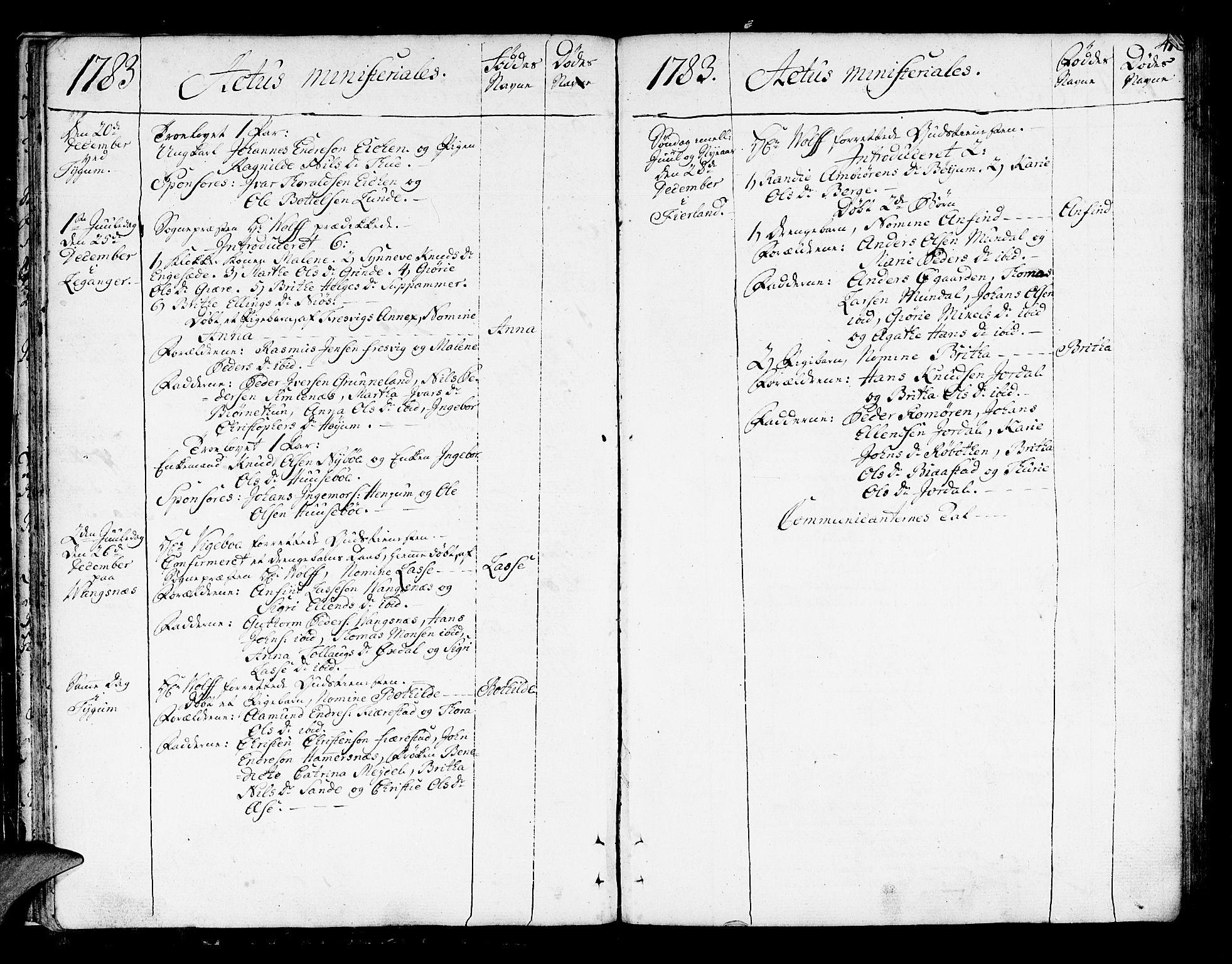 SAB, Leikanger Sokneprestembete, Ministerialbok nr. A 4, 1770-1791, s. 41