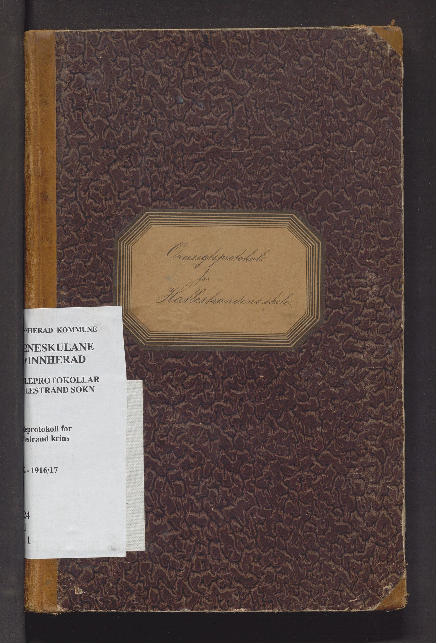 IKAH, Kvinnherad kommune. Barneskulane, F/Fc/L0001: Skuleprotokoll for Hatlestrandens krins , 1892-1917
