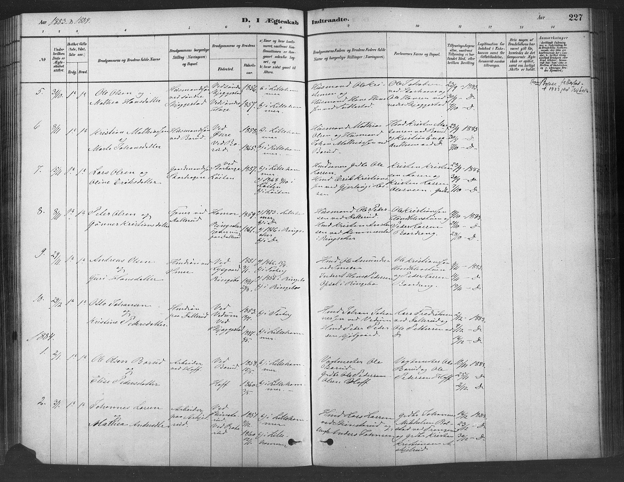 SAH, Fåberg prestekontor, Ministerialbok nr. 9, 1879-1898, s. 227