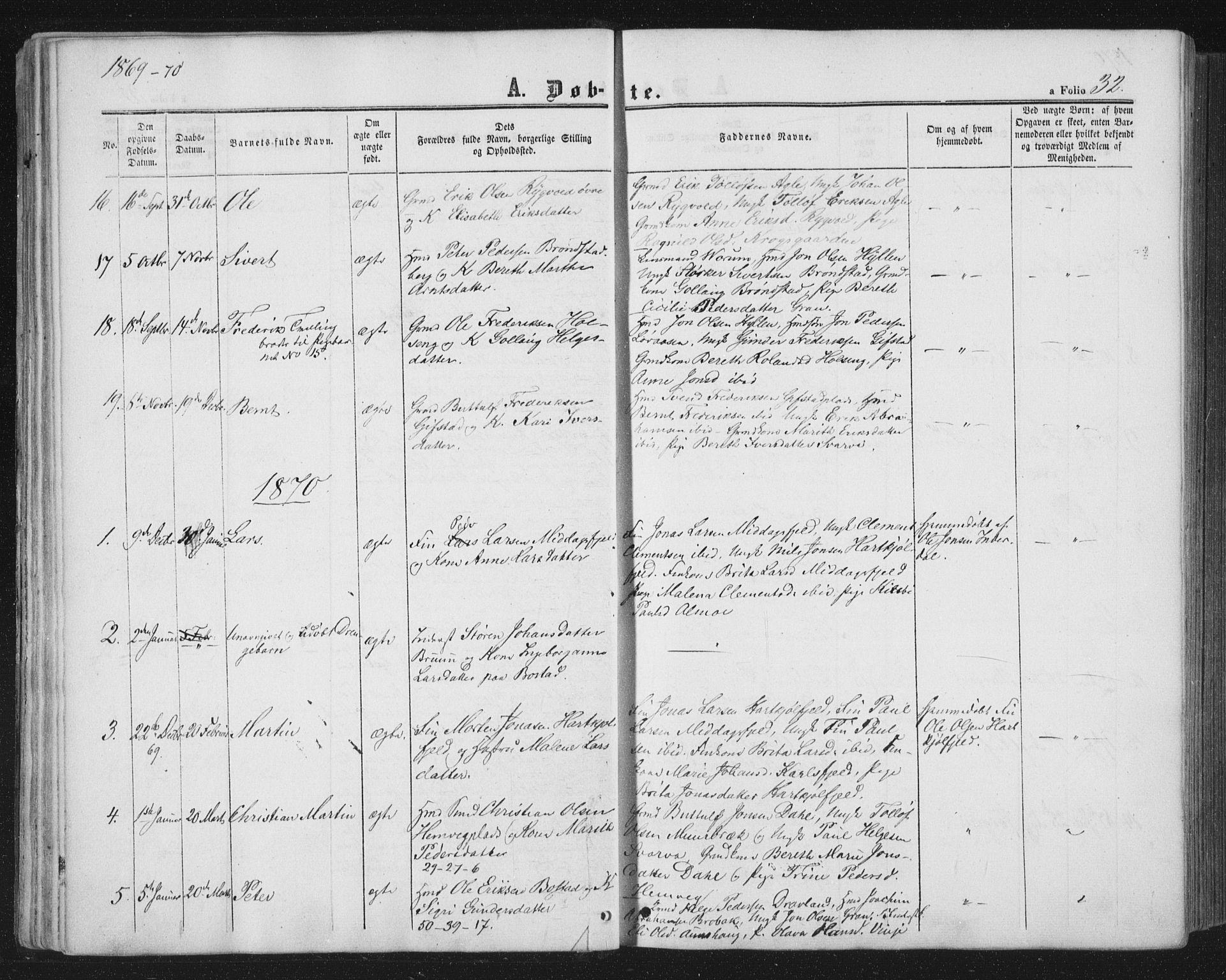 SAT, Ministerialprotokoller, klokkerbøker og fødselsregistre - Nord-Trøndelag, 749/L0472: Ministerialbok nr. 749A06, 1857-1873, s. 32