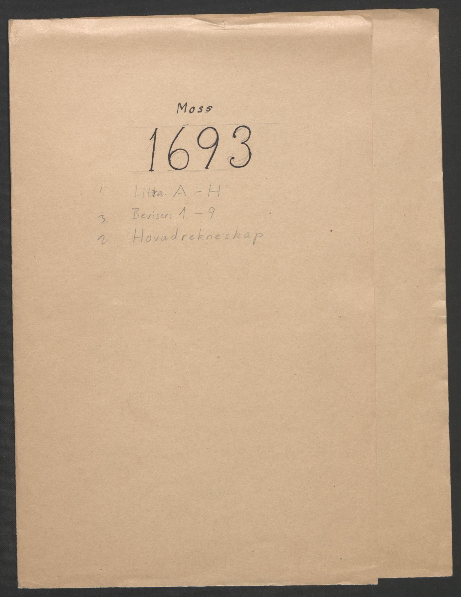 RA, Rentekammeret inntil 1814, Reviderte regnskaper, Fogderegnskap, R02/L0108: Fogderegnskap Moss og Verne kloster, 1692-1693, s. 200