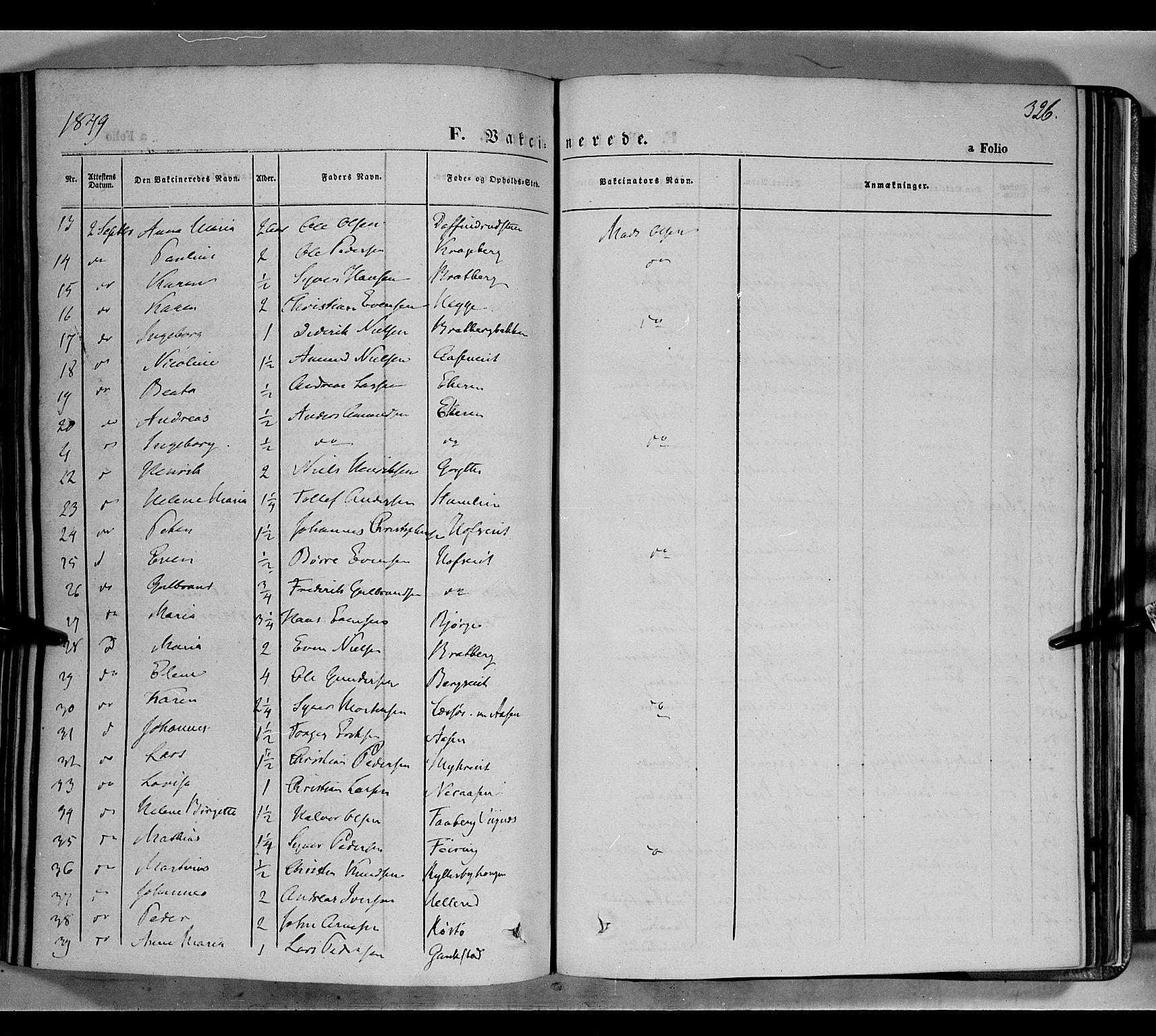 SAH, Biri prestekontor, Ministerialbok nr. 5, 1843-1854, s. 326