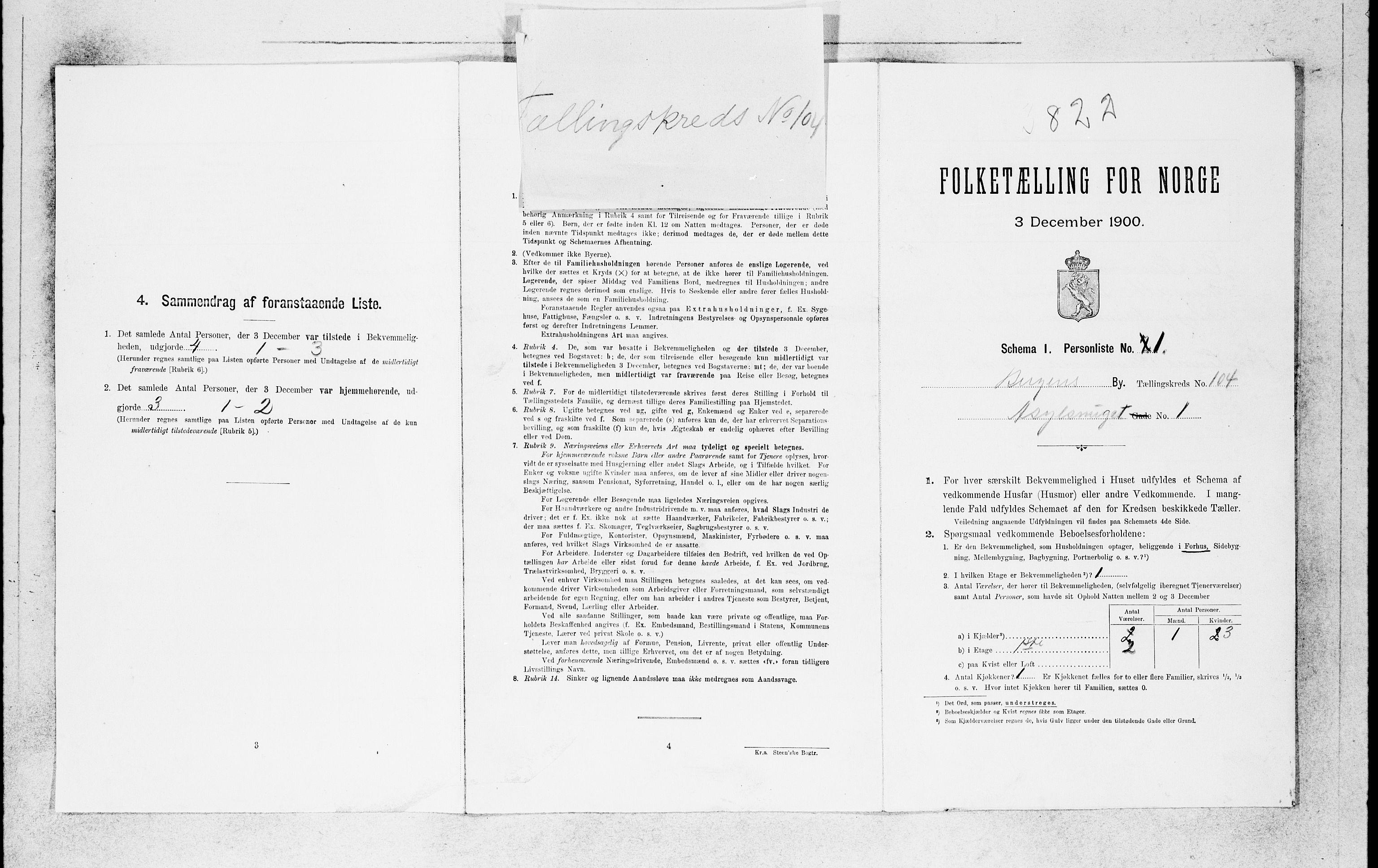 SAB, Folketelling 1900 for 1301 Bergen kjøpstad, 1900, s. 21684