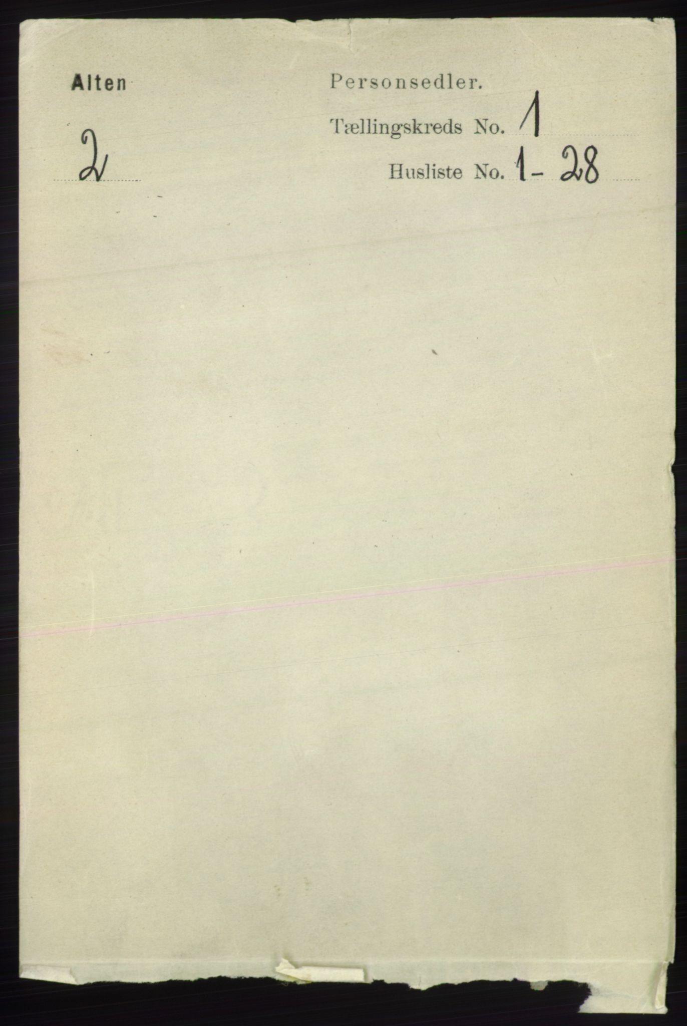 RA, Folketelling 1891 for 2012 Alta herred, 1891, s. 81