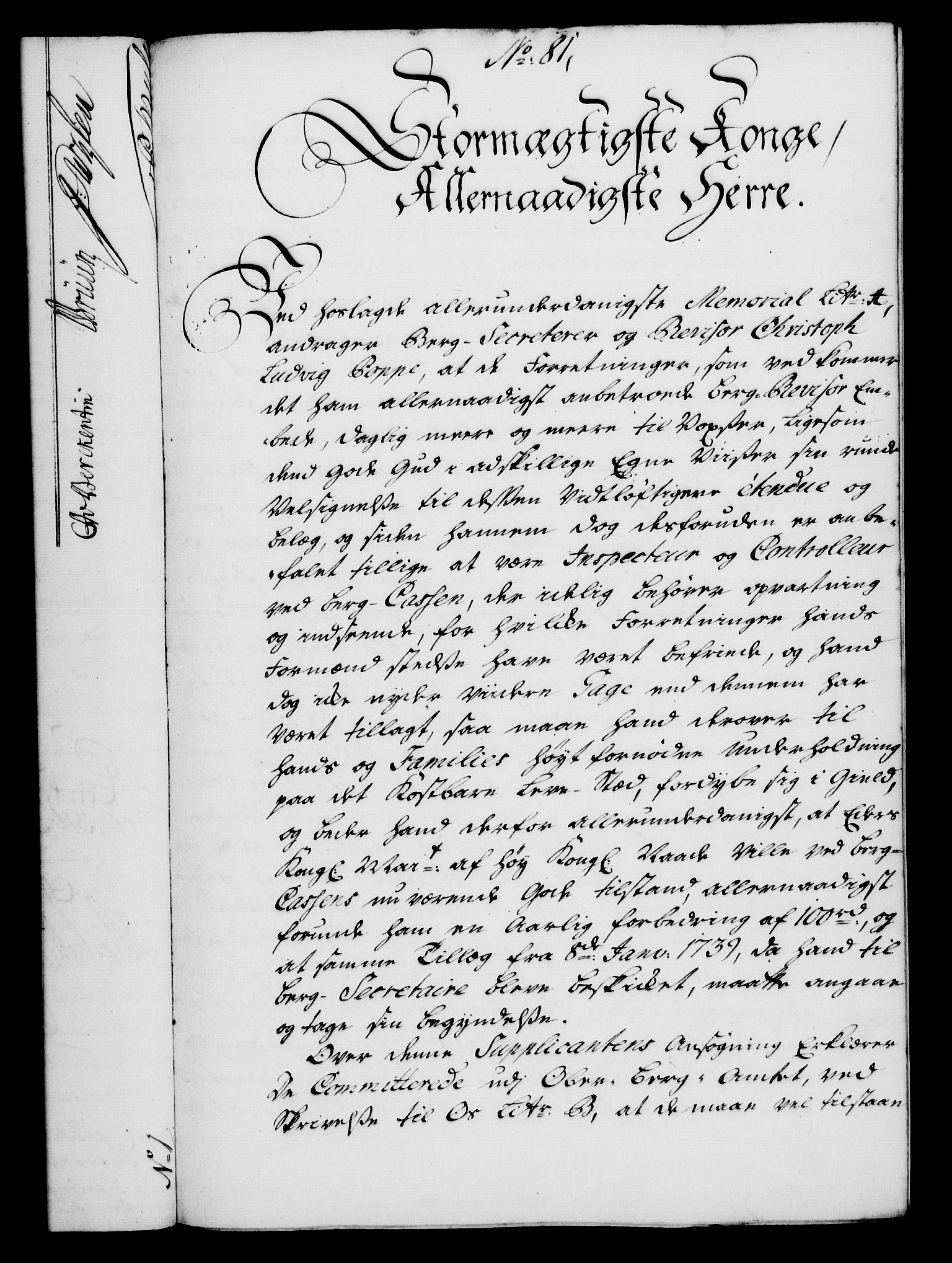 RA, Rentekammeret, Kammerkanselliet, G/Gf/Gfa/L0024: Norsk relasjons- og resolusjonsprotokoll (merket RK 52.24), 1741, s. 483