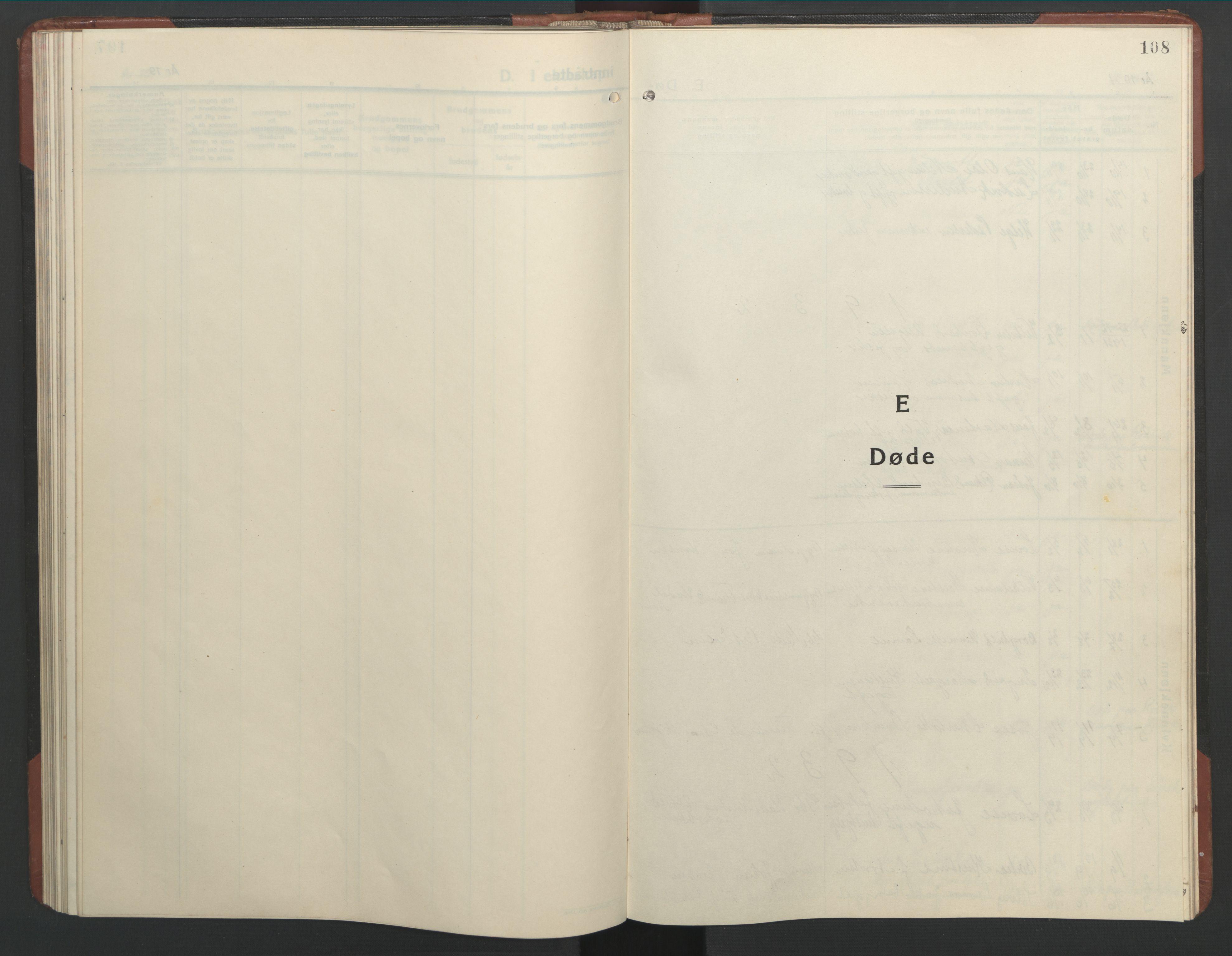 SAT, Ministerialprotokoller, klokkerbøker og fødselsregistre - Nordland, 803/L0078: Klokkerbok nr. 803C05, 1931-1952, s. 108