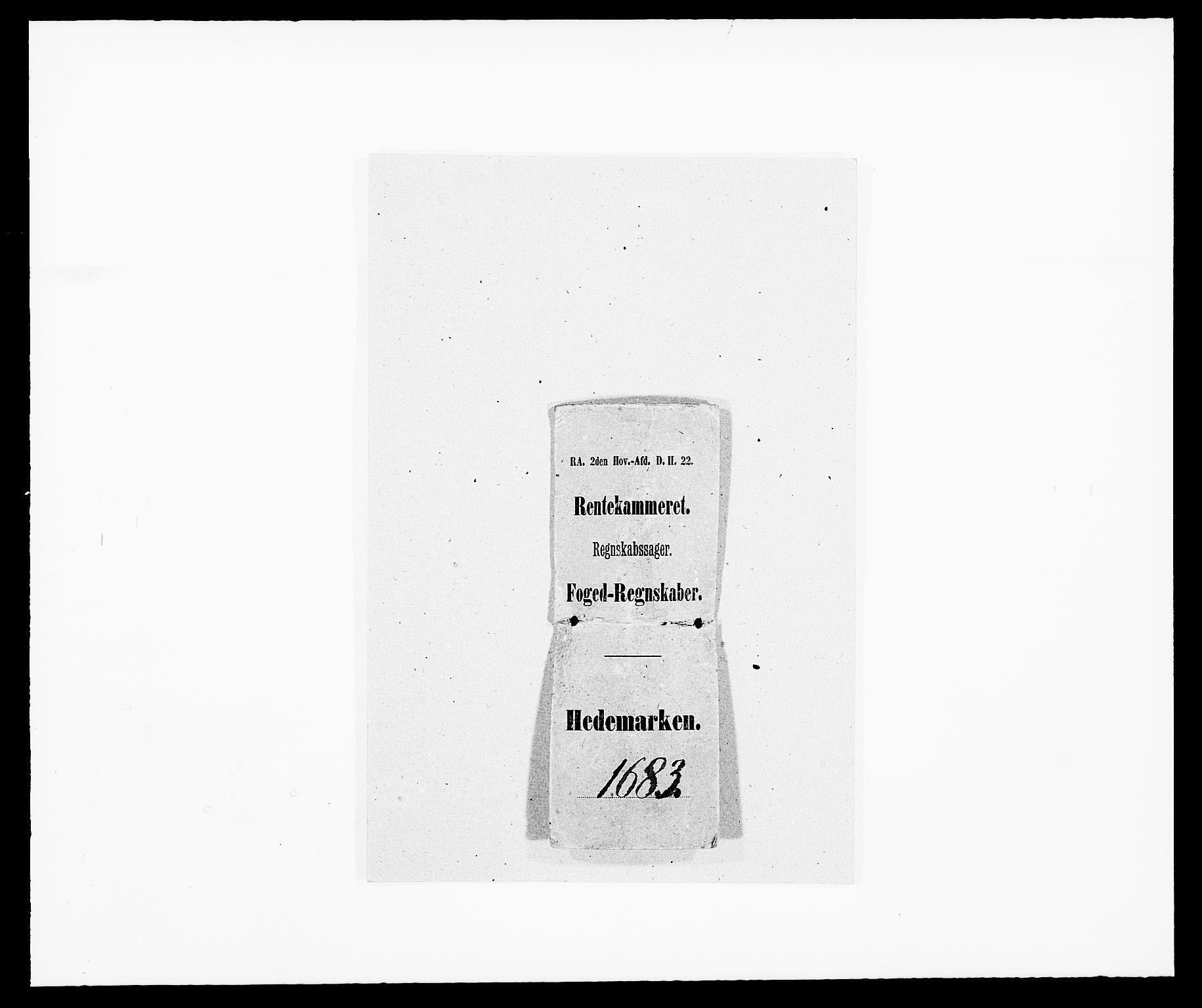 RA, Rentekammeret inntil 1814, Reviderte regnskaper, Fogderegnskap, R16/L1024: Fogderegnskap Hedmark, 1683, s. 1