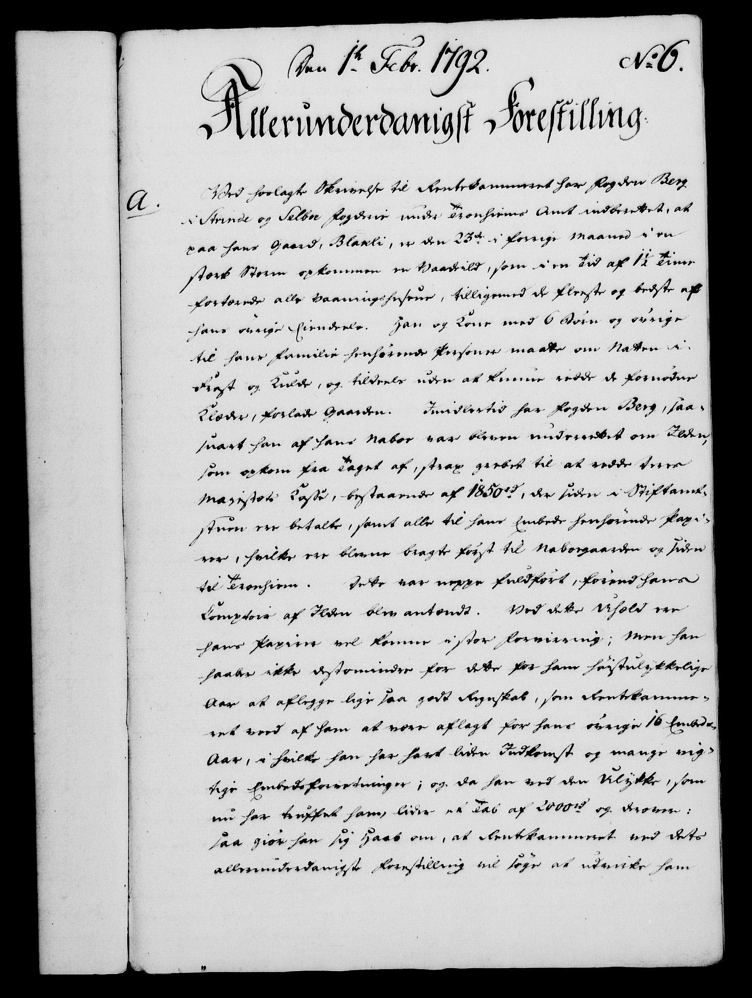 RA, Rentekammeret, Kammerkanselliet, G/Gf/Gfa/L0074: Norsk relasjons- og resolusjonsprotokoll (merket RK 52.74), 1792, s. 46