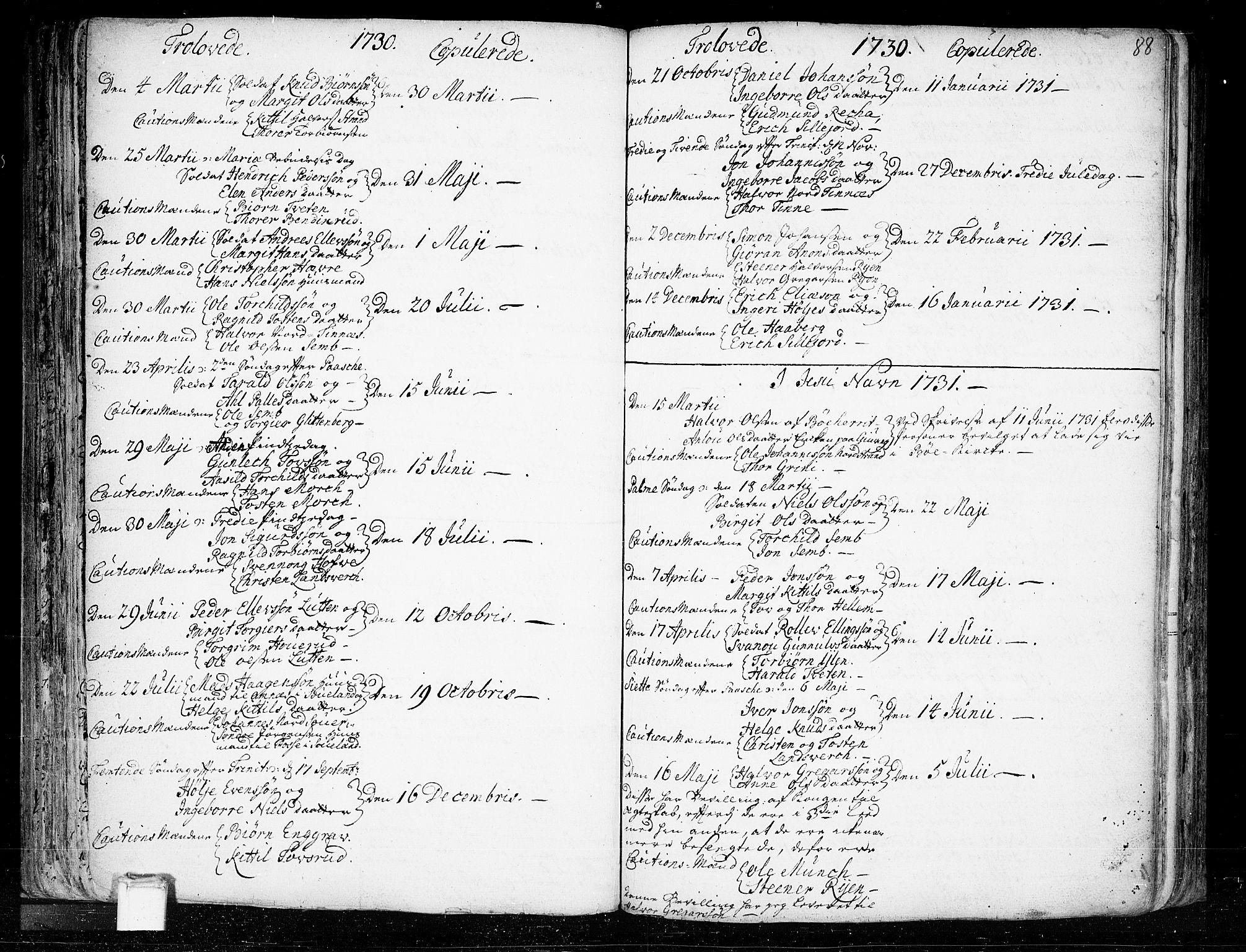 SAKO, Heddal kirkebøker, F/Fa/L0003: Ministerialbok nr. I 3, 1723-1783, s. 88