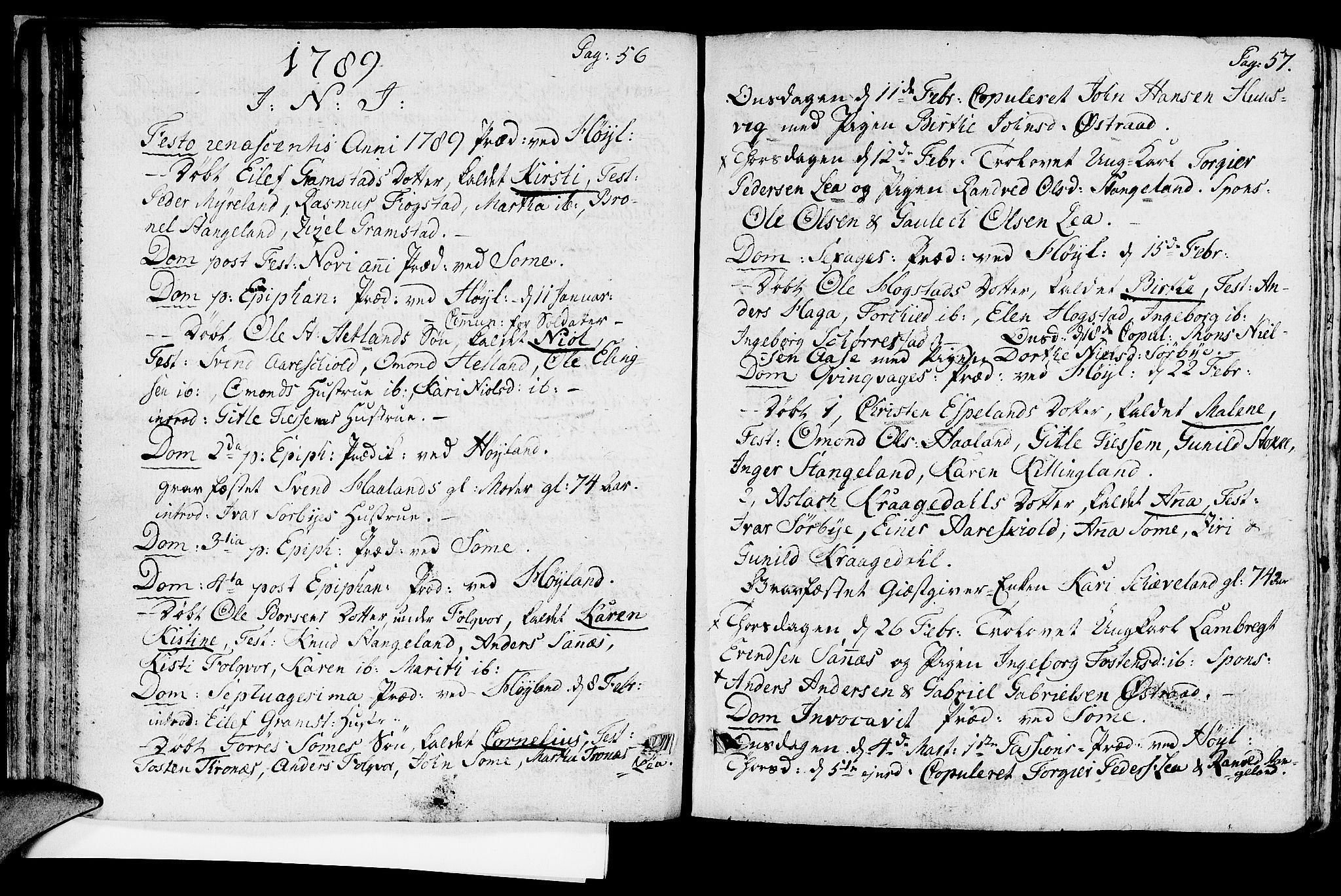 SAST, Høyland sokneprestkontor, 30BA/L0004: Ministerialbok nr. A 4, 1784-1803, s. 56-57