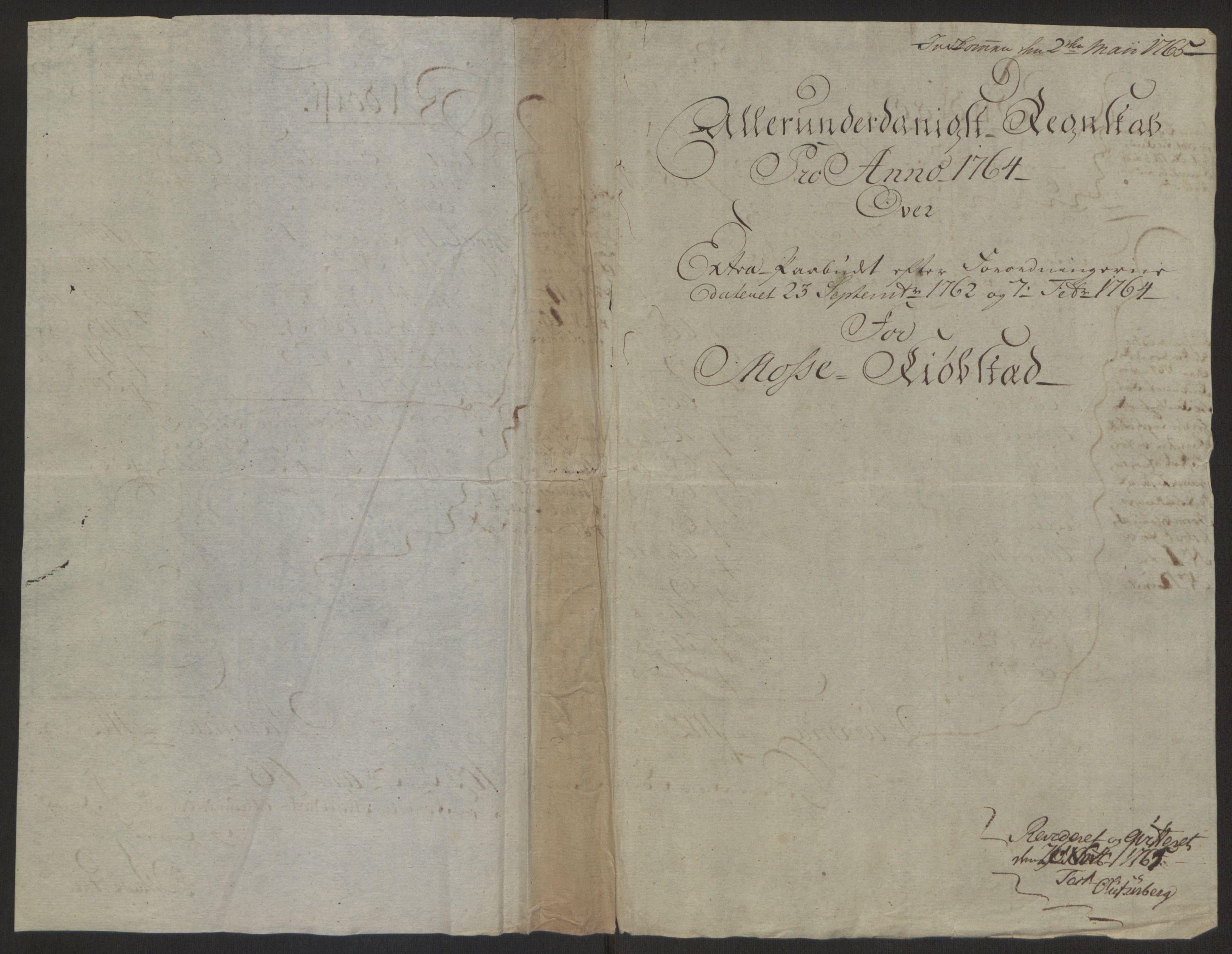 RA, Rentekammeret inntil 1814, Reviderte regnskaper, Byregnskaper, R/Rc/L0042: [C1] Kontribusjonsregnskap, 1762-1765, s. 166