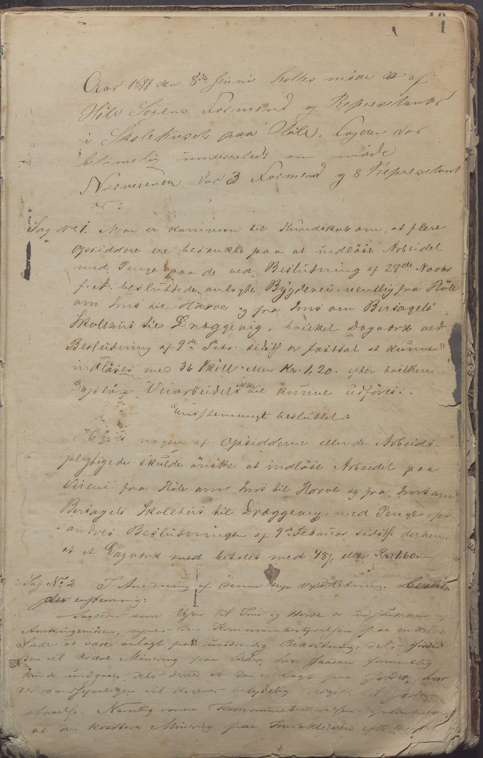 IKAR, Høle kommune - Formannskapet, Aa/L0003: Møtebok, 1877-1889, s. 1