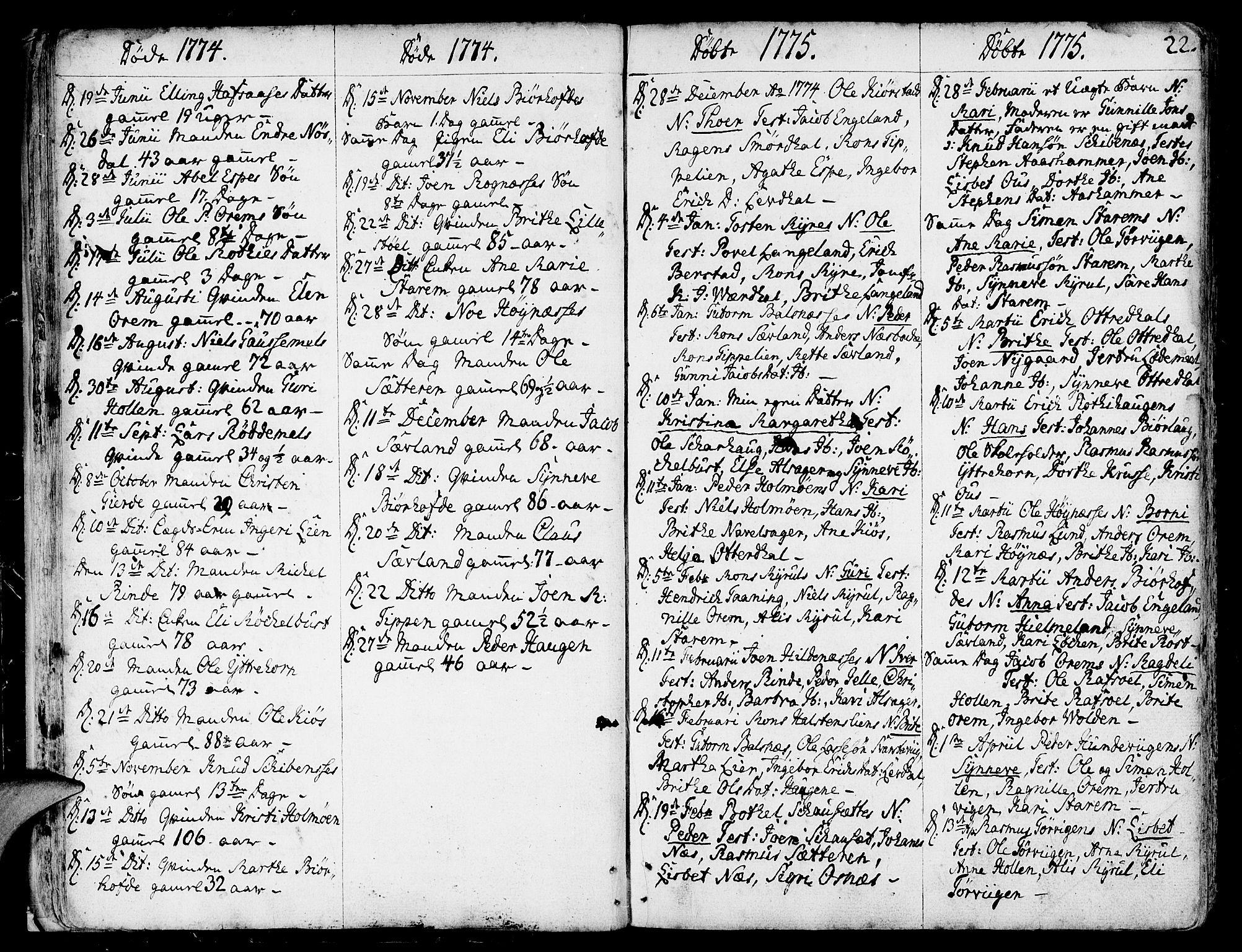 SAB, Eid Sokneprestembete, H/Haa: Ministerialbok nr. A 3, 1770-1805, s. 22