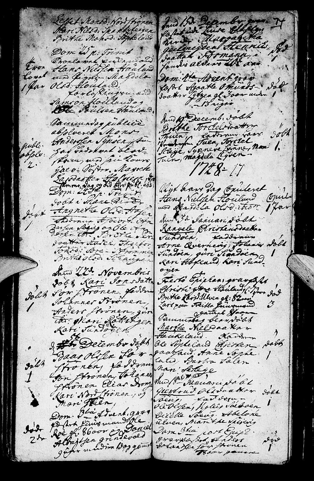 SAB, Os sokneprestembete*, Ministerialbok nr. A 2, 1723-1758, s. 74