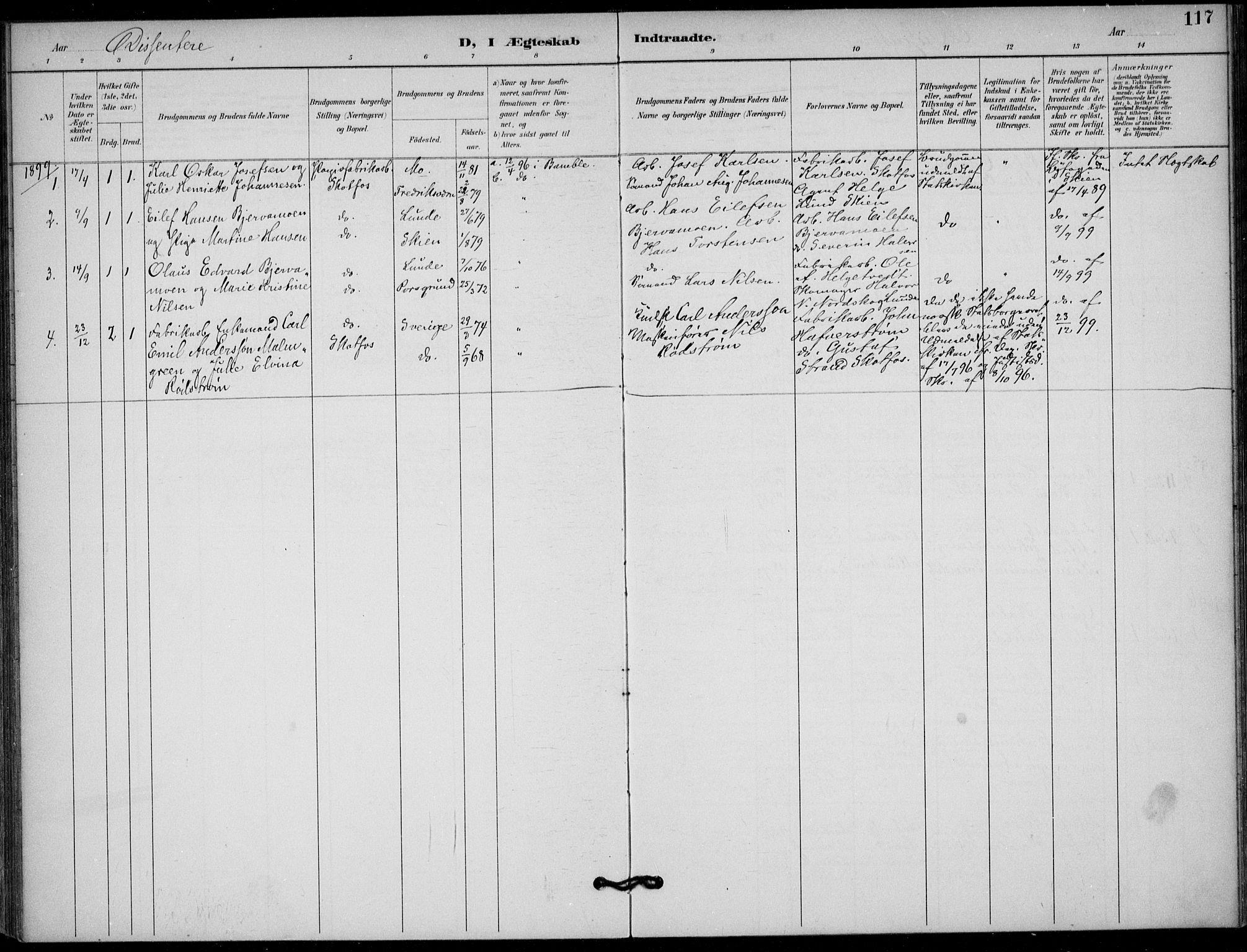 SAKO, Solum kirkebøker, F/Fb/L0002: Ministerialbok nr. II 2, 1893-1901, s. 117