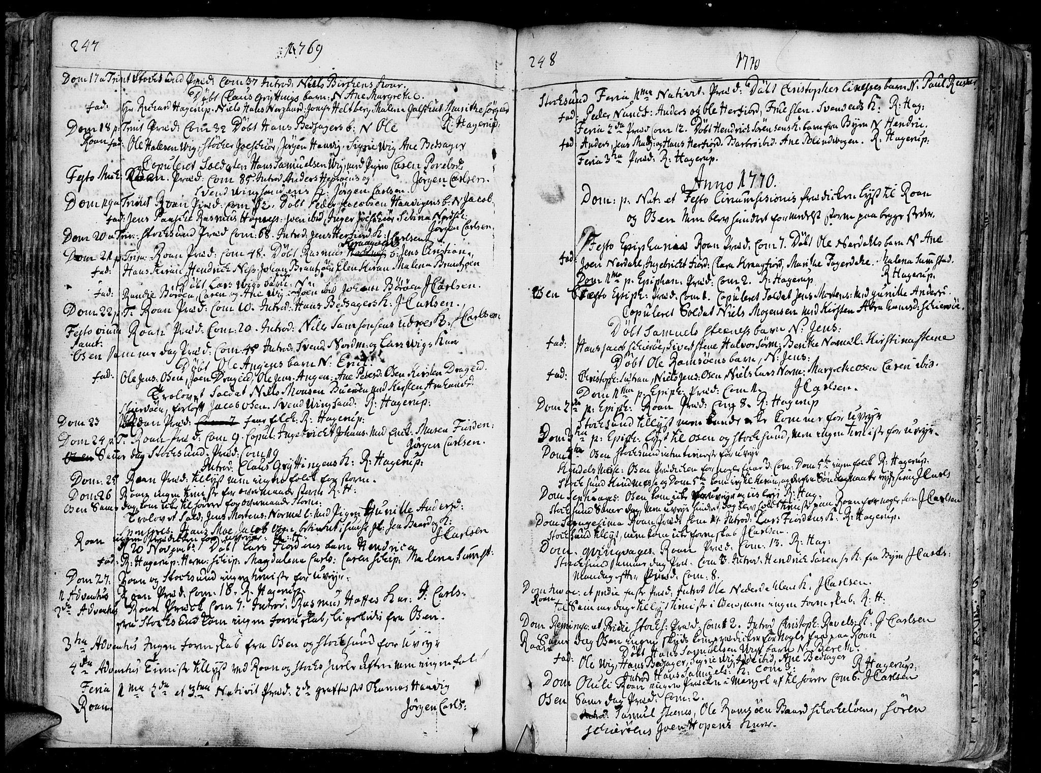 SAT, Ministerialprotokoller, klokkerbøker og fødselsregistre - Sør-Trøndelag, 657/L0700: Ministerialbok nr. 657A01, 1732-1801, s. 247-248
