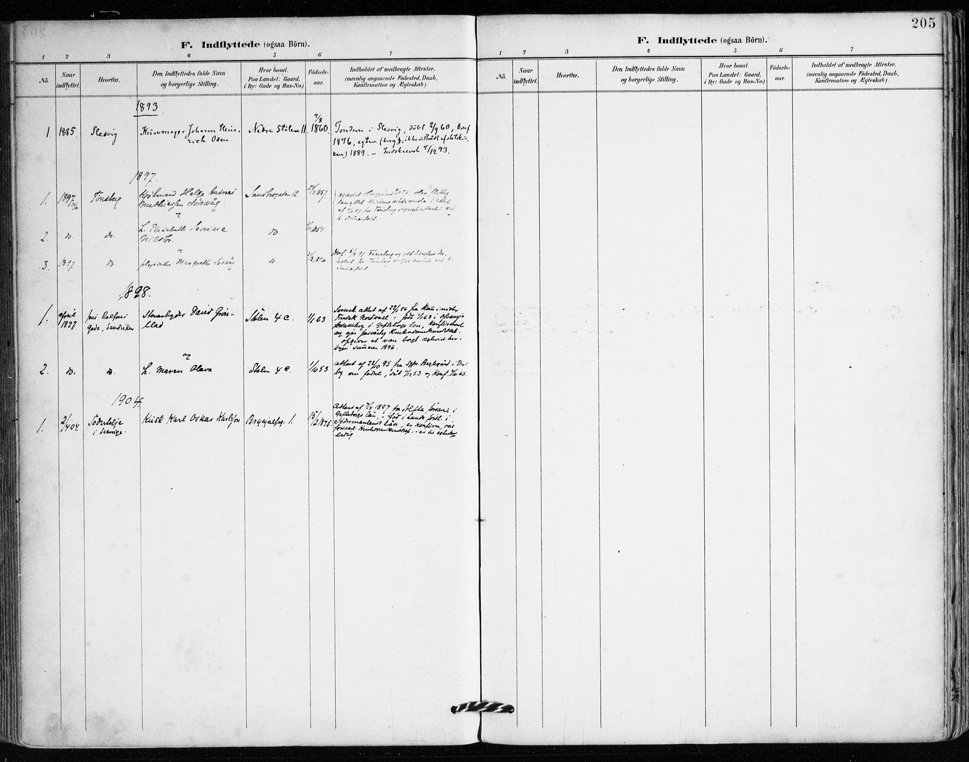 SAB, Mariakirken Sokneprestembete, H/Haa/L0008: Ministerialbok nr. A 8, 1893-1942, s. 205