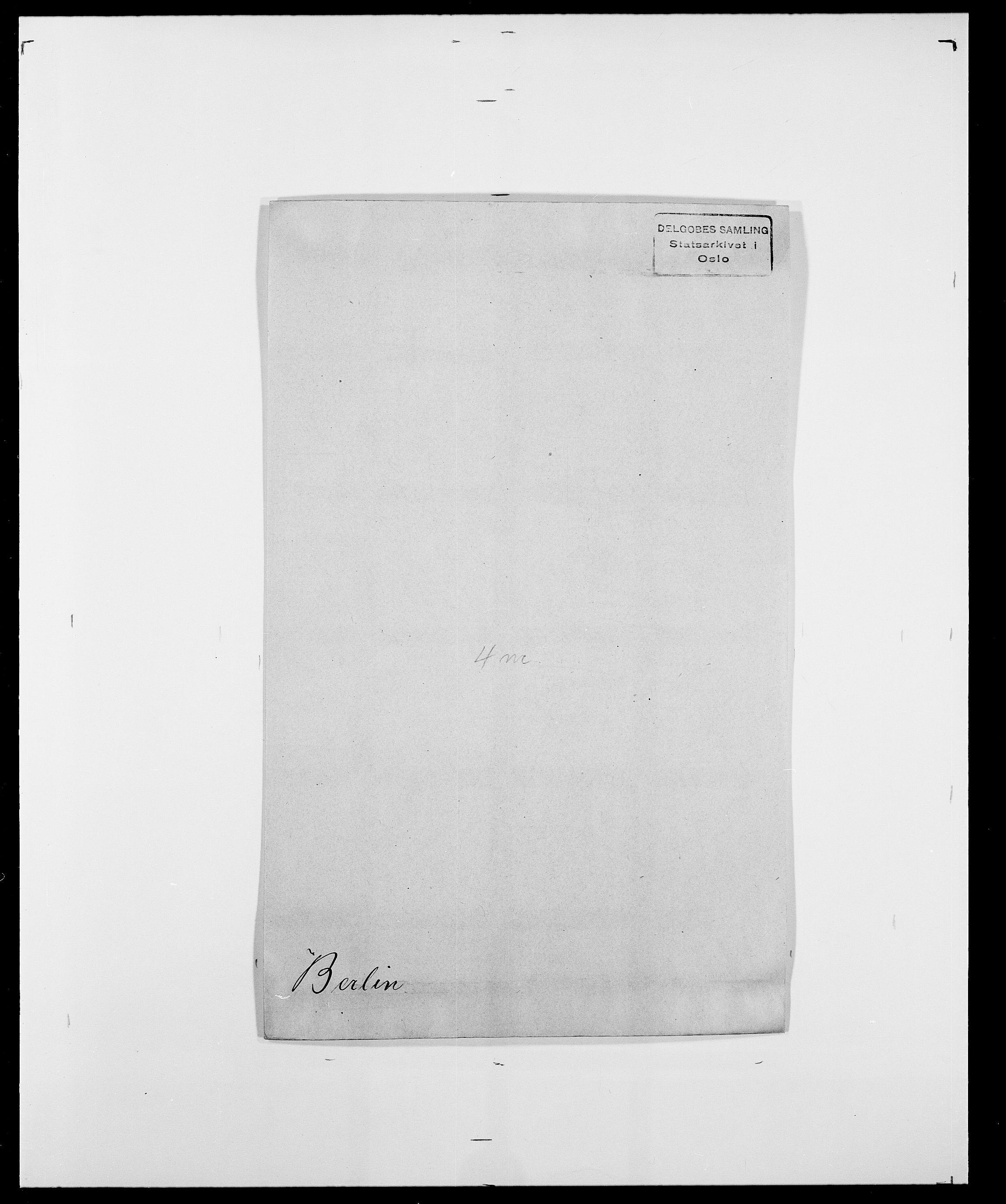 SAO, Delgobe, Charles Antoine - samling, D/Da/L0004: Bergendahl - Blære, s. 61