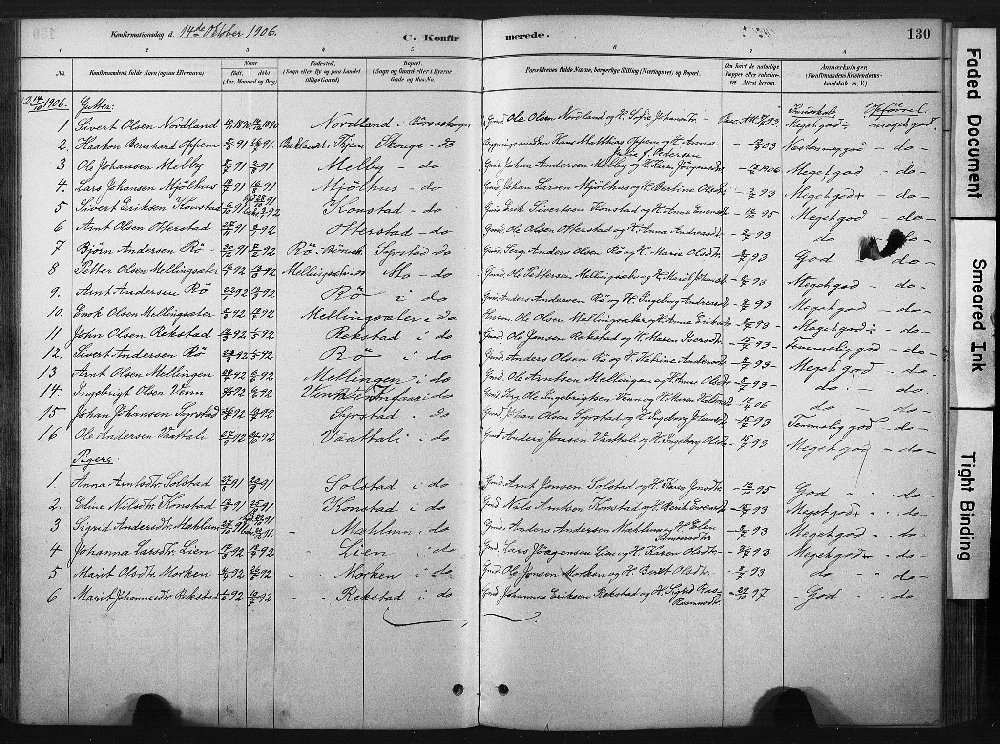 SAT, Ministerialprotokoller, klokkerbøker og fødselsregistre - Sør-Trøndelag, 667/L0795: Ministerialbok nr. 667A03, 1879-1907, s. 130