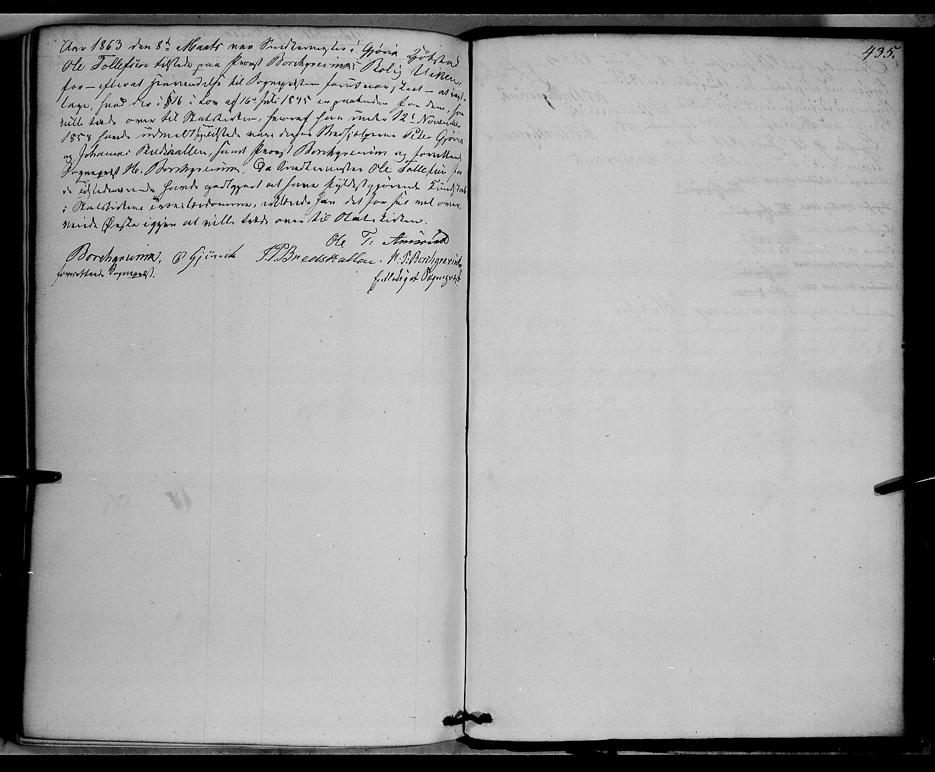 SAH, Vardal prestekontor, H/Ha/Haa/L0006: Ministerialbok nr. 6, 1854-1866, s. 435