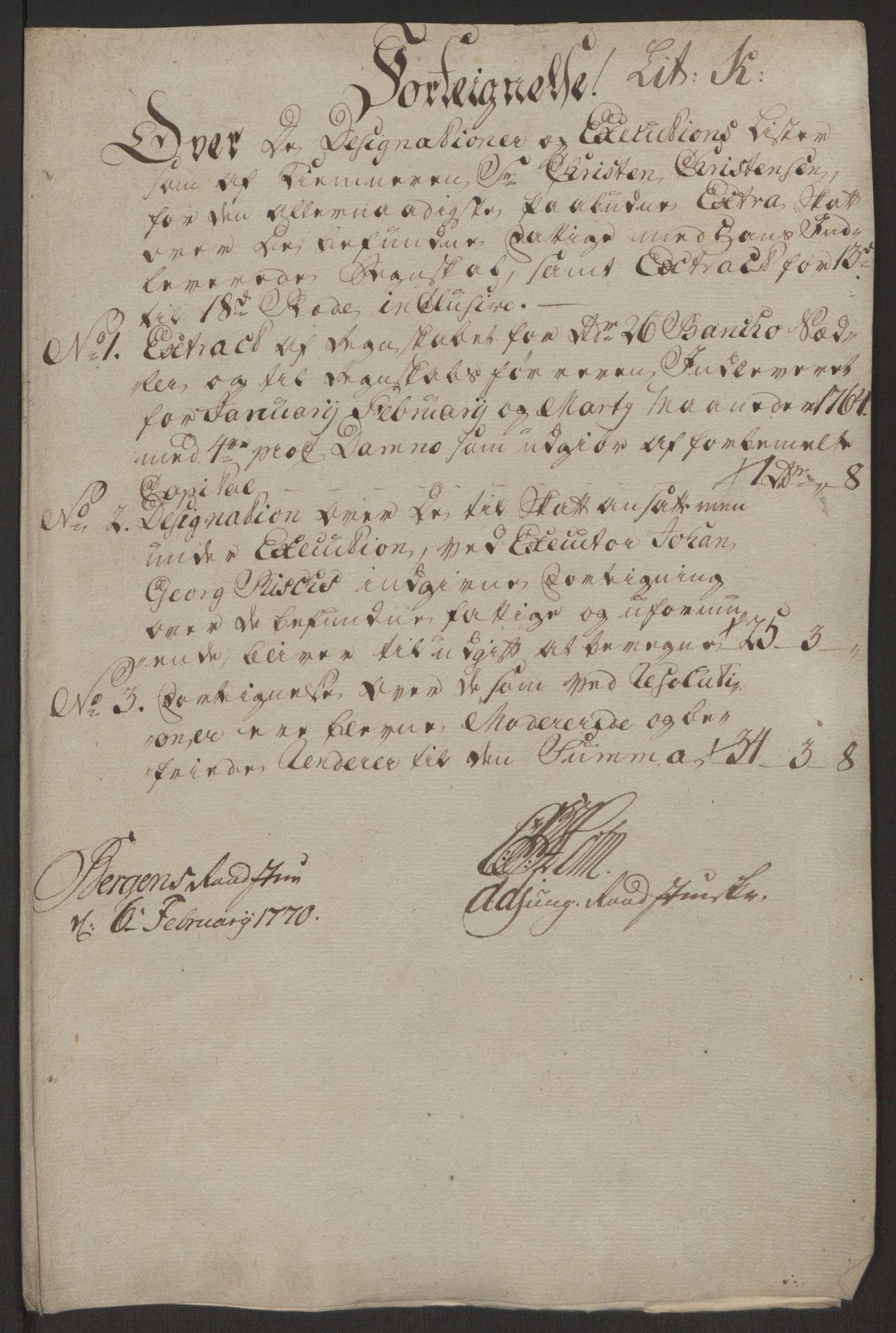 RA, Rentekammeret inntil 1814, Reviderte regnskaper, Byregnskaper, R/Rp/L0368: [P21] Kontribusjonsregnskap, 1764, s. 50