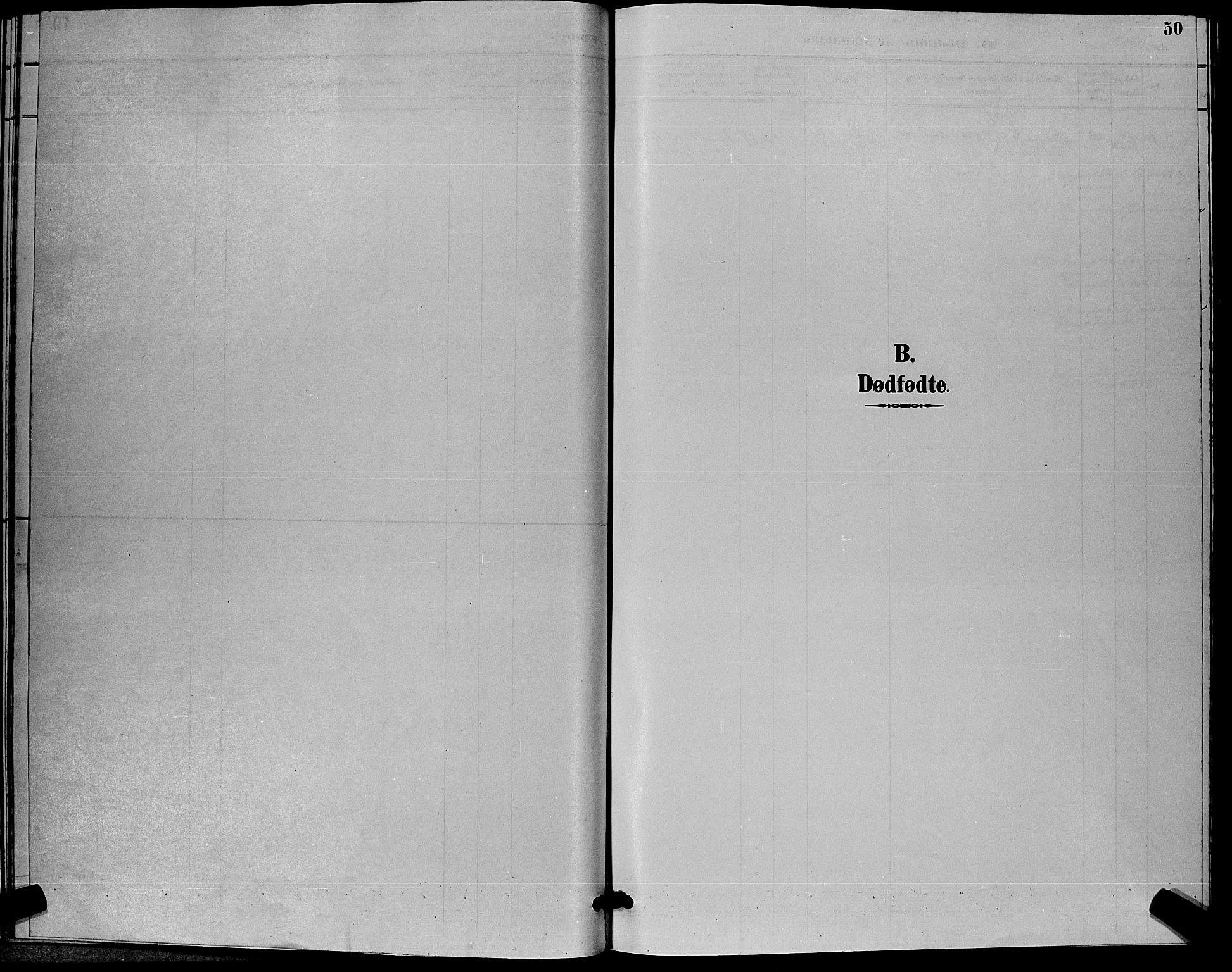 SAKO, Flesberg kirkebøker, G/Ga/L0004: Klokkerbok nr. I 4 /1, 1890-1898, s. 50