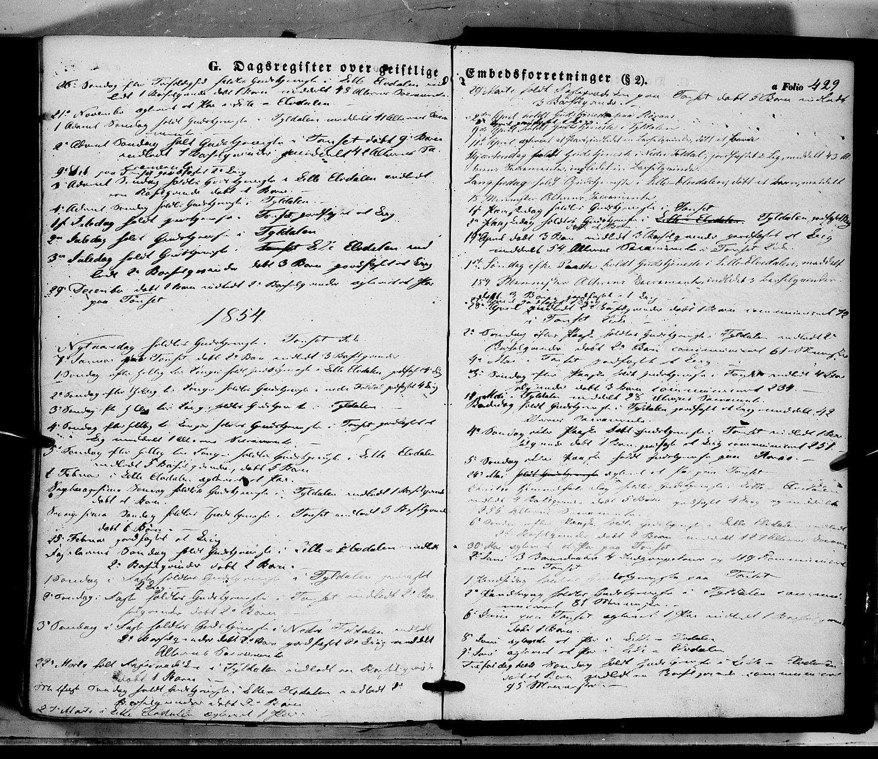 SAH, Tynset prestekontor, Ministerialbok nr. 20, 1848-1862, s. 429