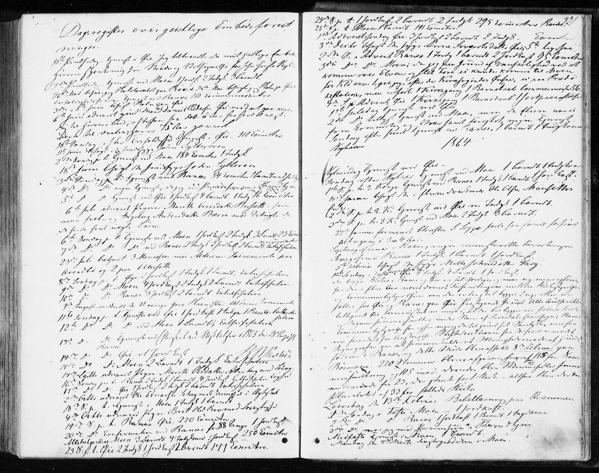 SAT, Ministerialprotokoller, klokkerbøker og fødselsregistre - Møre og Romsdal, 595/L1045: Ministerialbok nr. 595A07, 1863-1873, s. 321