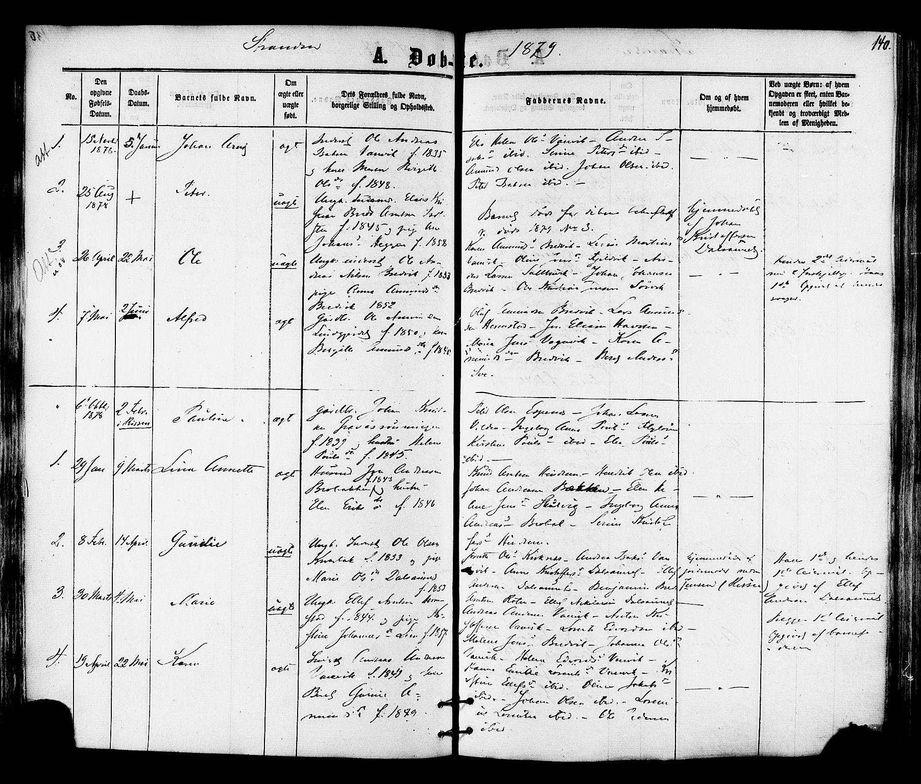 SAT, Ministerialprotokoller, klokkerbøker og fødselsregistre - Nord-Trøndelag, 701/L0009: Ministerialbok nr. 701A09 /2, 1864-1882, s. 140