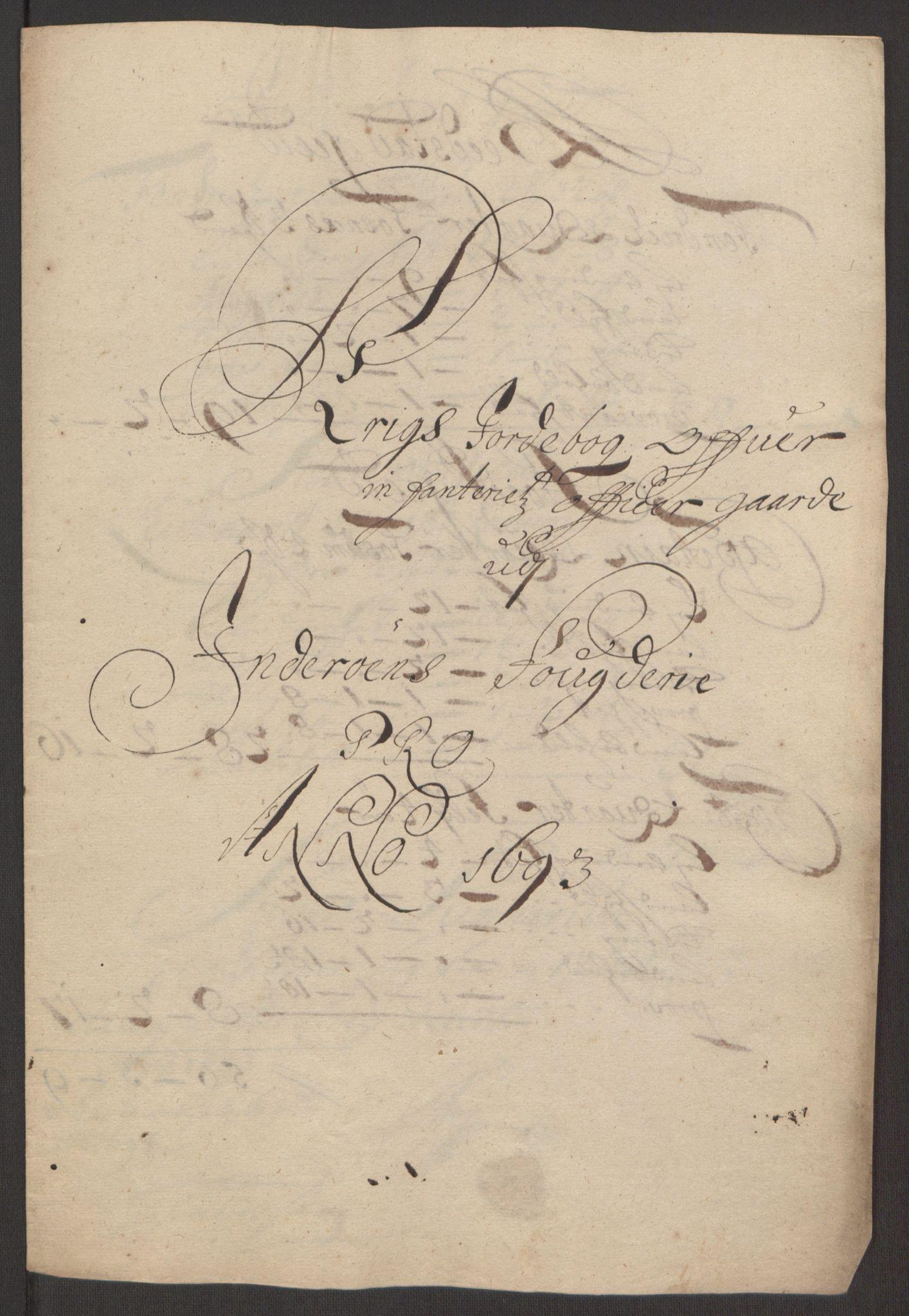 RA, Rentekammeret inntil 1814, Reviderte regnskaper, Fogderegnskap, R63/L4308: Fogderegnskap Inderøy, 1692-1694, s. 511