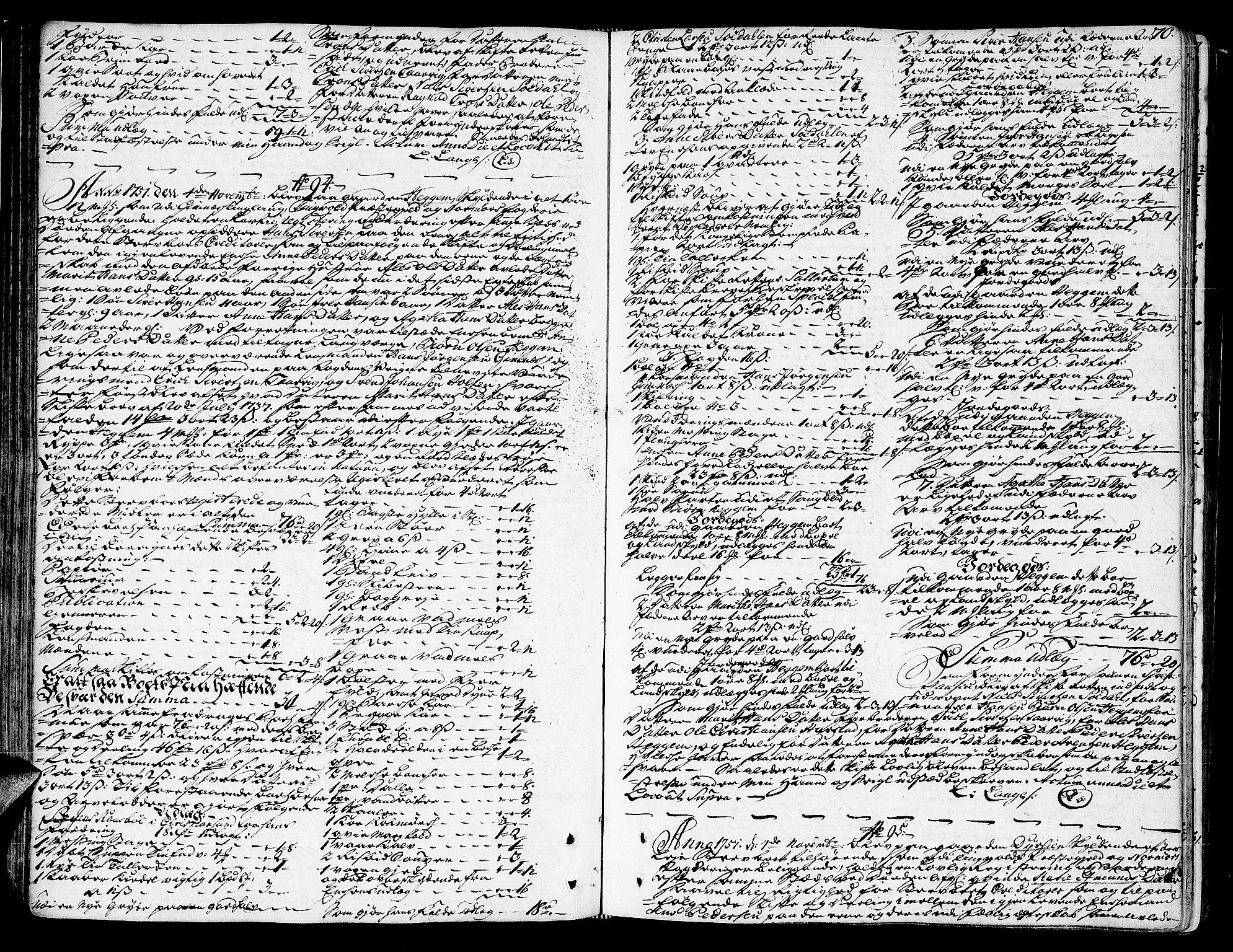 SAT, Nordmøre sorenskriveri, 3/3A/L0011: Skifteprotokoll nr. 10a, 1750-1755, s. 69b-70a