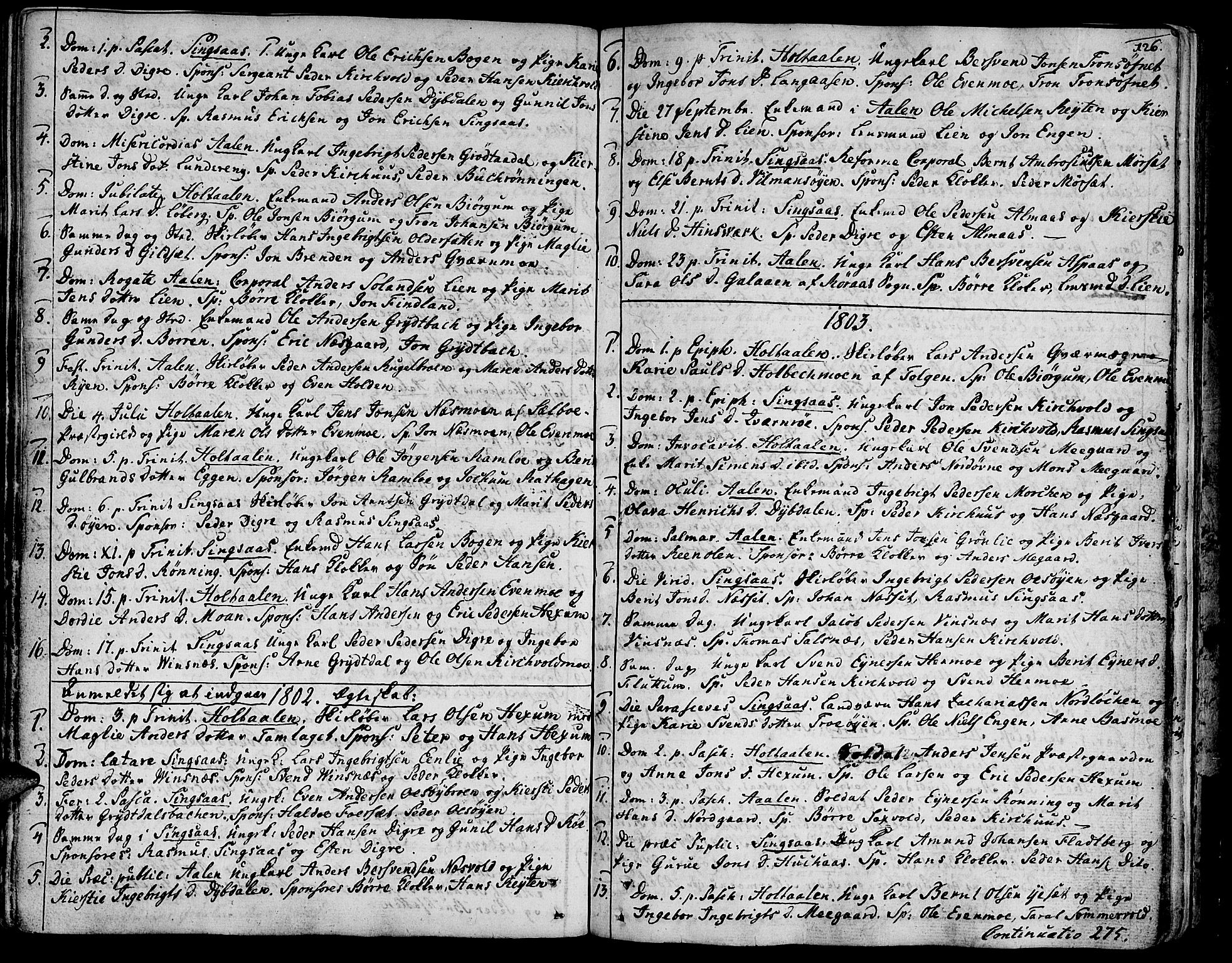 SAT, Ministerialprotokoller, klokkerbøker og fødselsregistre - Sør-Trøndelag, 685/L0952: Ministerialbok nr. 685A01, 1745-1804, s. 126