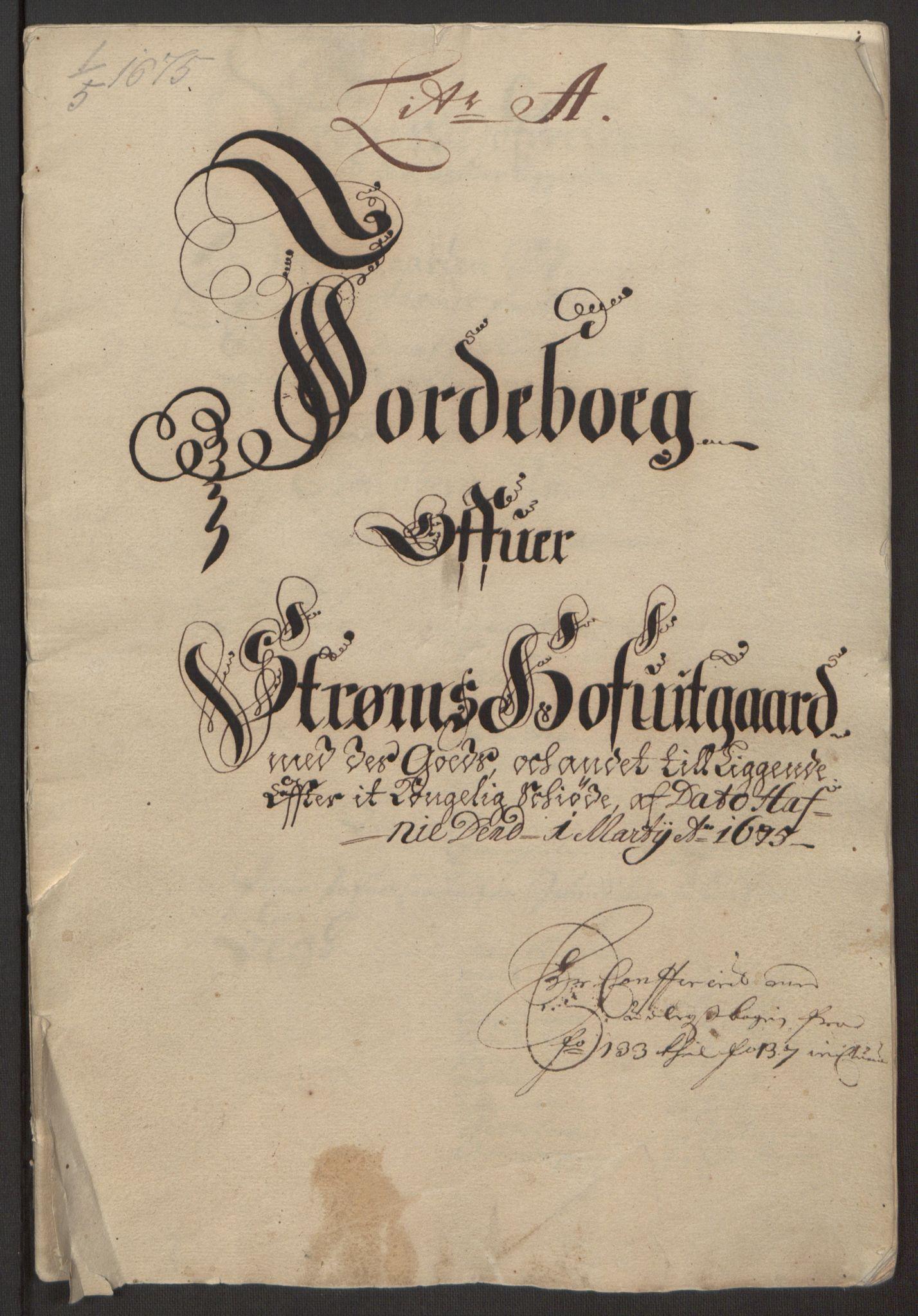 RA, Rentekammeret inntil 1814, Reviderte regnskaper, Fogderegnskap, R32/L1844: Fogderegnskap Jarlsberg grevskap, 1674-1675, s. 386