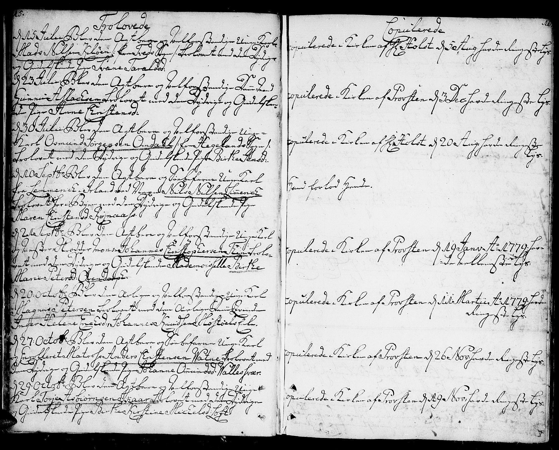 SAK, Kristiansand domprosti, F/Fa/L0005: Ministerialbok nr. A 5, 1776-1818, s. 15-16