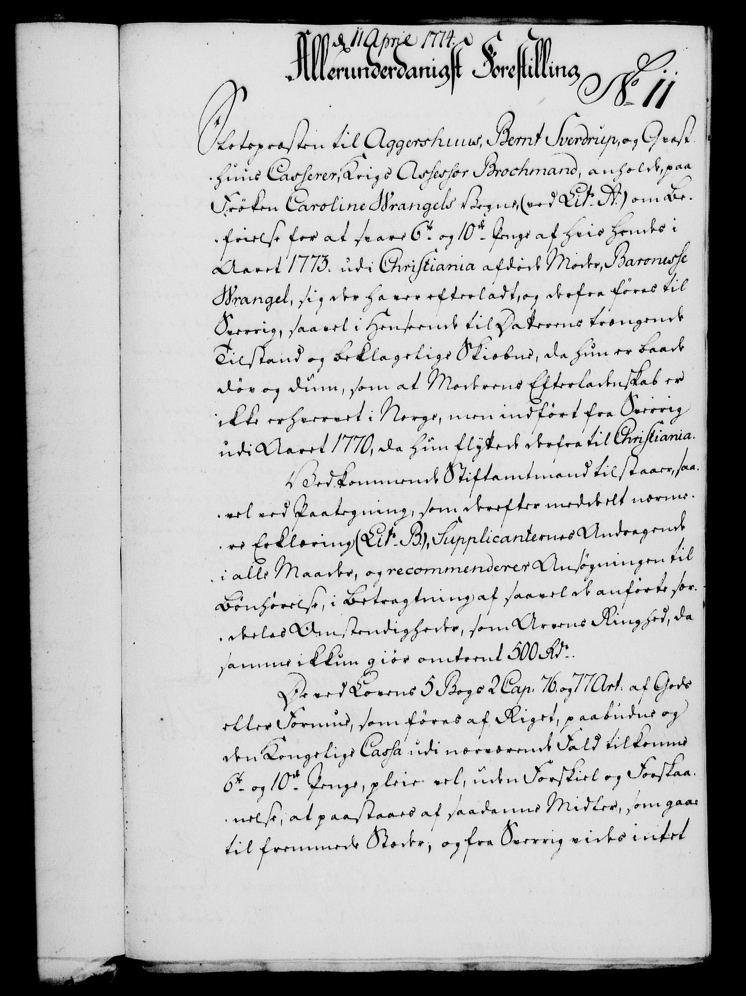 RA, Rentekammeret, Kammerkanselliet, G/Gf/Gfa/L0056: Norsk relasjons- og resolusjonsprotokoll (merket RK 52.56), 1774, s. 60