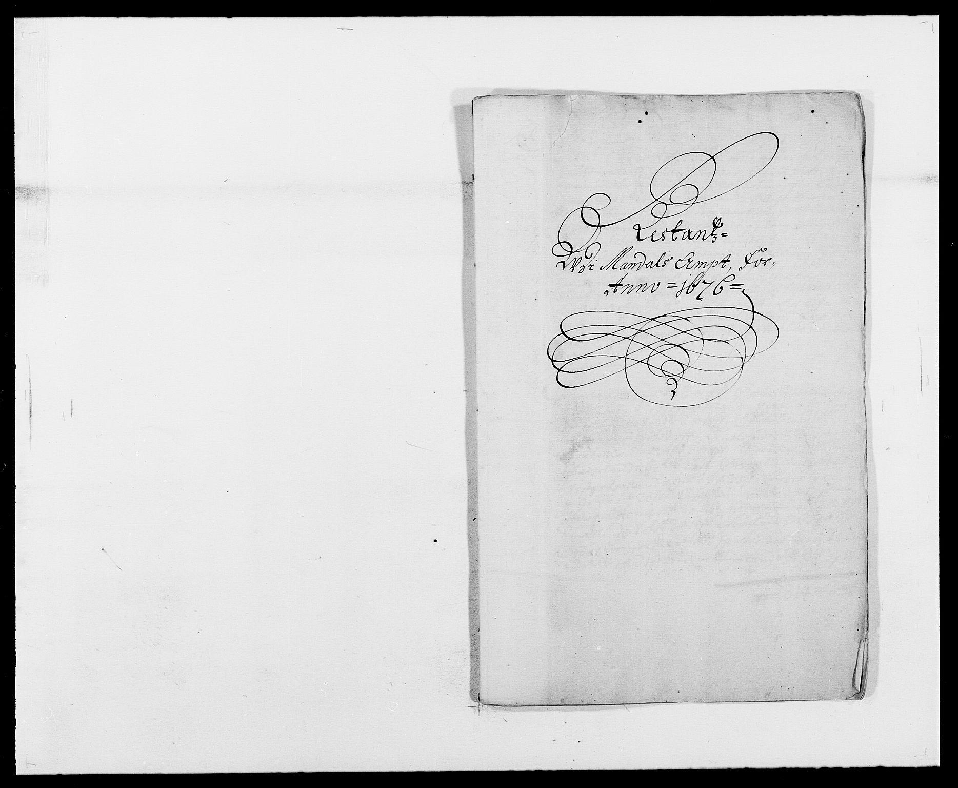 RA, Rentekammeret inntil 1814, Reviderte regnskaper, Fogderegnskap, R42/L2540: Mandal fogderi, 1676-1680, s. 40
