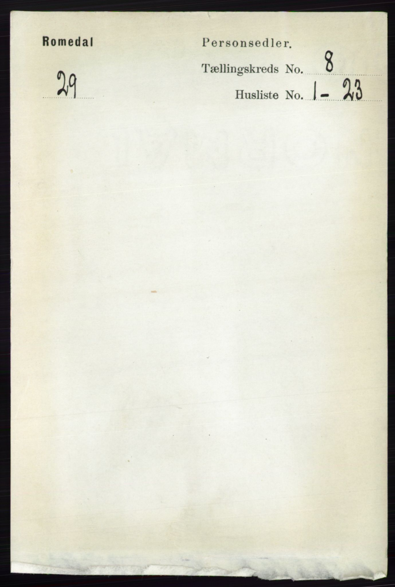 RA, Folketelling 1891 for 0416 Romedal herred, 1891, s. 3963