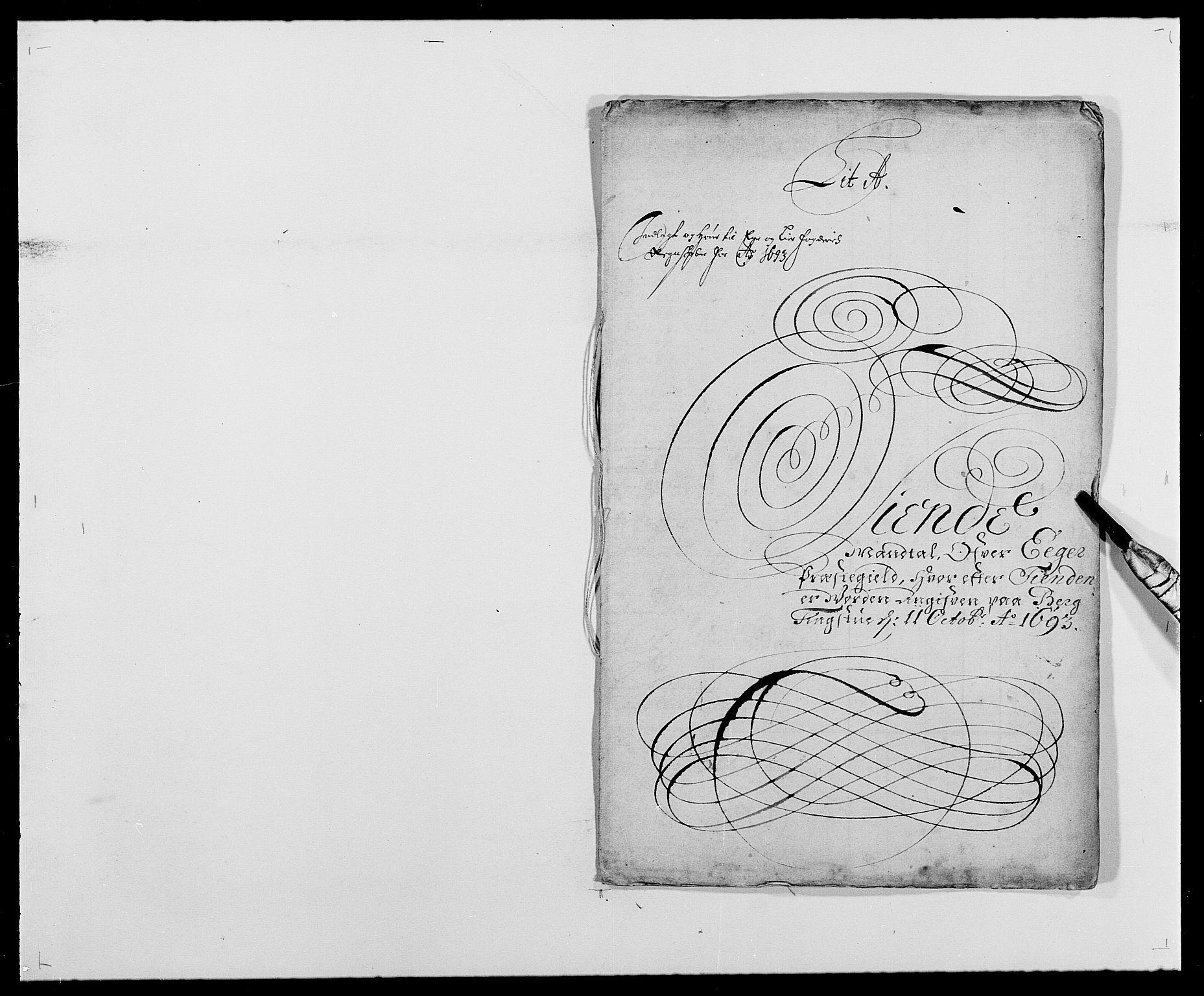 RA, Rentekammeret inntil 1814, Reviderte regnskaper, Fogderegnskap, R28/L1690: Fogderegnskap Eiker og Lier, 1692-1693, s. 132