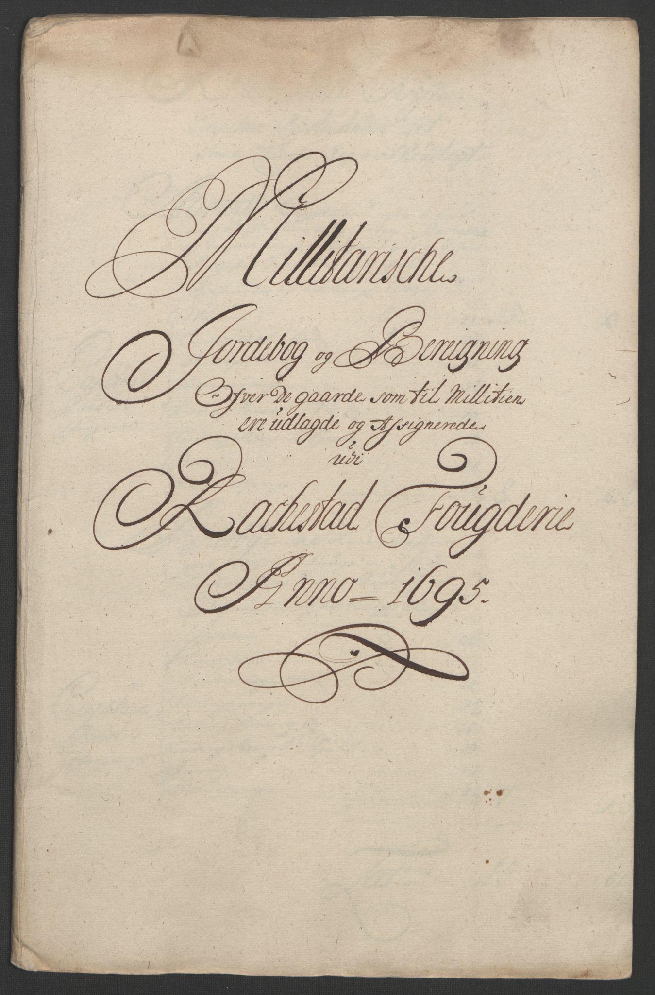 RA, Rentekammeret inntil 1814, Reviderte regnskaper, Fogderegnskap, R07/L0285: Fogderegnskap Rakkestad, Heggen og Frøland, 1695, s. 250