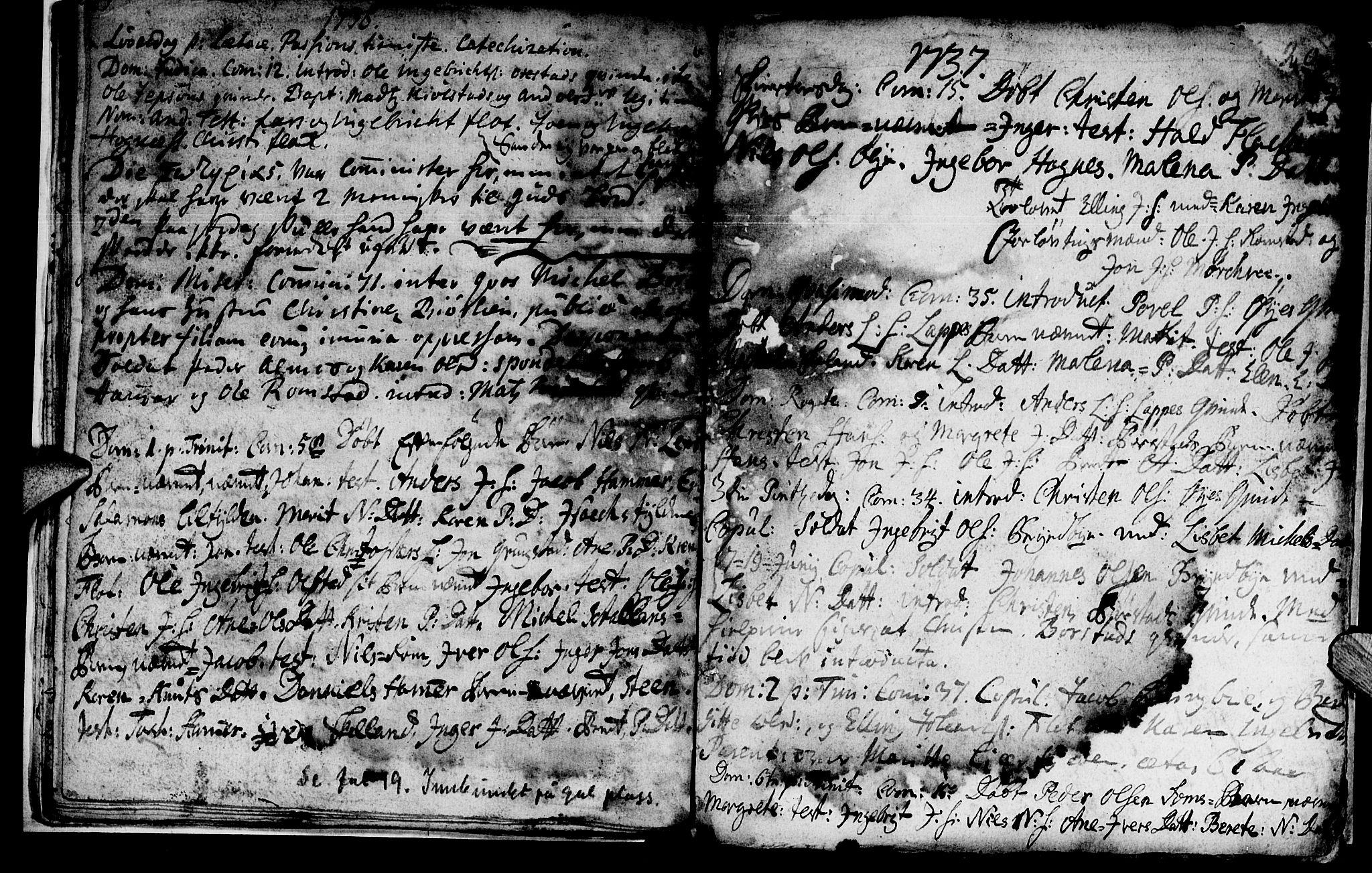 SAT, Ministerialprotokoller, klokkerbøker og fødselsregistre - Nord-Trøndelag, 765/L0560: Ministerialbok nr. 765A01, 1706-1748, s. 19
